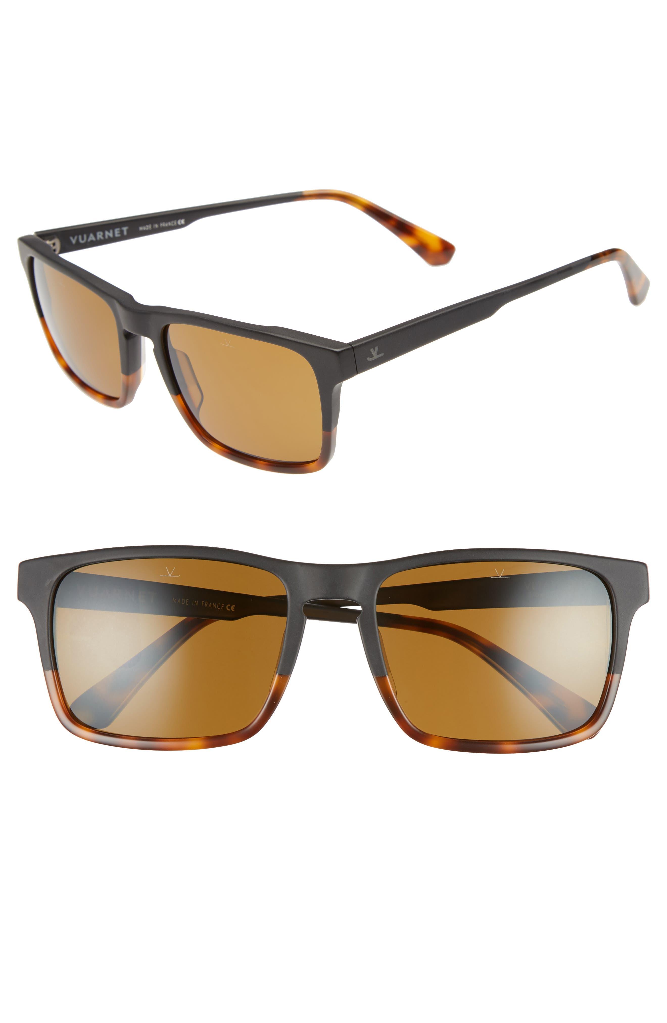 Large District 54mm Sunglasses,                         Main,                         color, Matt Black / Tortoise