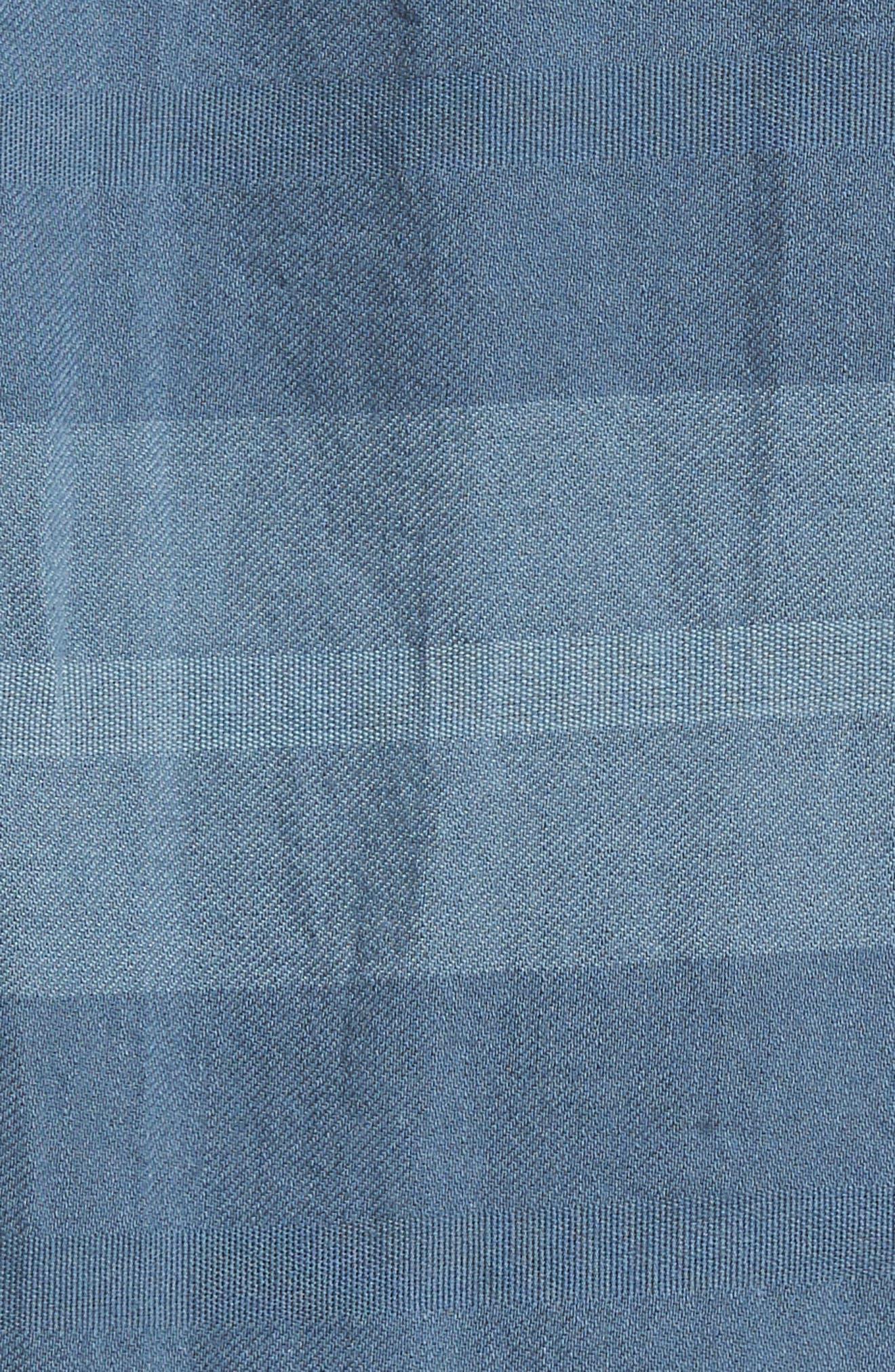 Dobson Woven Shirt,                             Alternate thumbnail 5, color,                             Storm Blue/Prison Blue Stripe