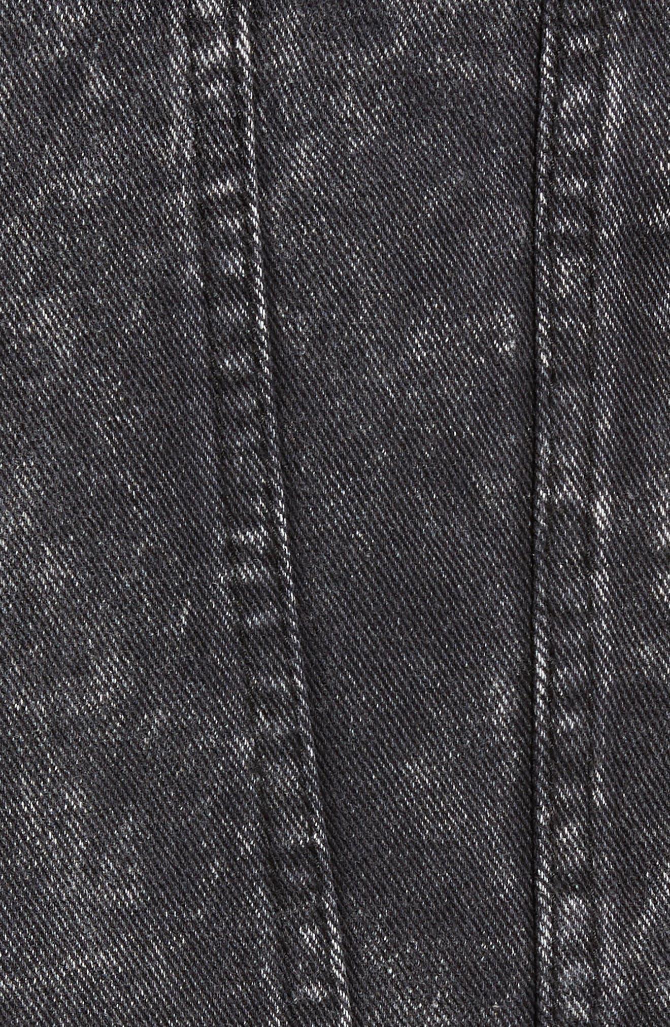 Billy Joel At the Garden Denim Jacket,                             Alternate thumbnail 5, color,                             Black Acid