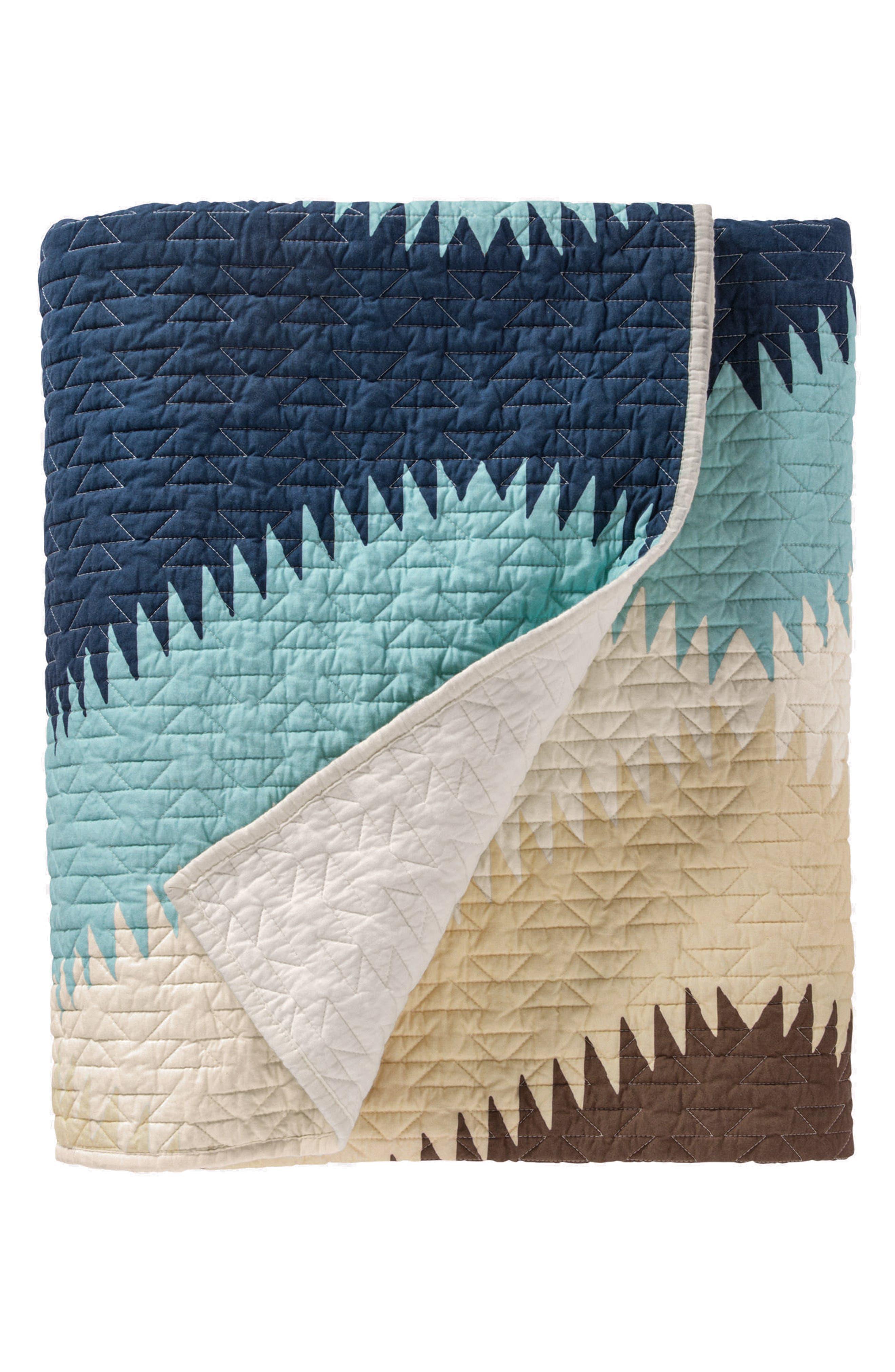 Saguaro Printed Coverlet & Sham Set,                             Alternate thumbnail 3, color,                             Multi