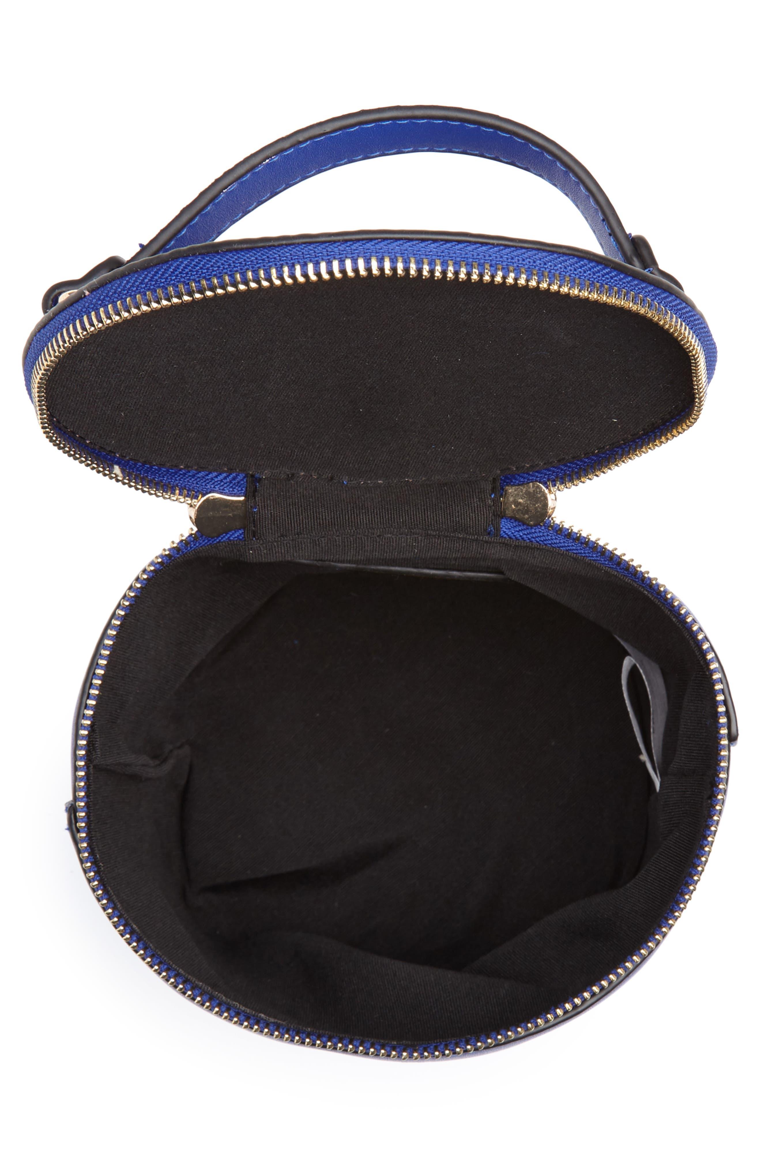 Top Handle Cylinder Bag,                             Alternate thumbnail 4, color,                             Cobalt