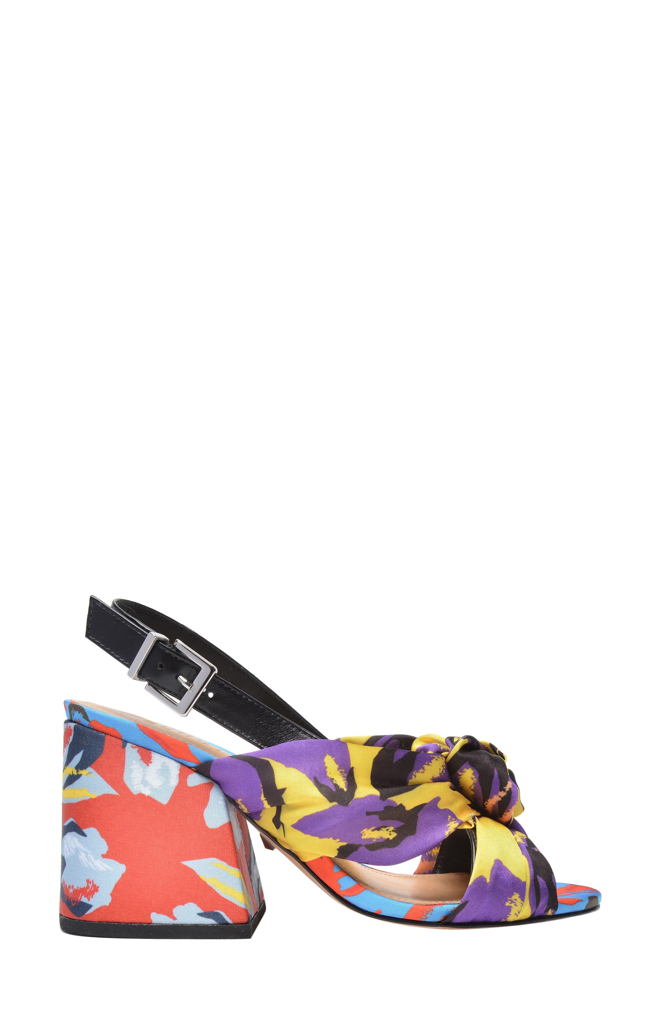 x Adriana Lima Sandal,                             Alternate thumbnail 3, color,                             Floral Print Fabric