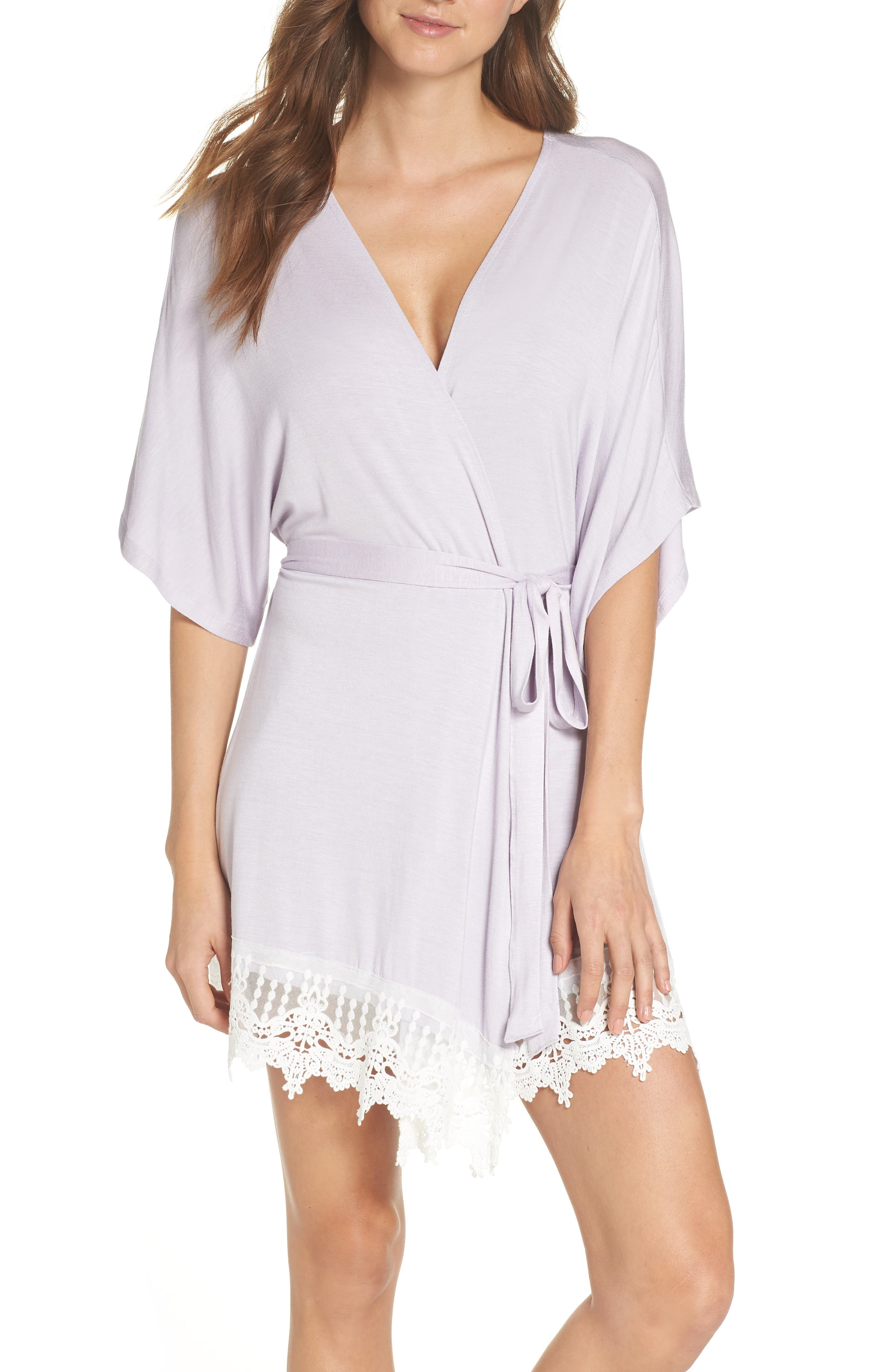 Sweetheart Robe,                             Main thumbnail 1, color,                             Lavender - Sweets