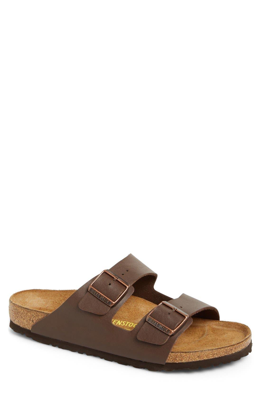 'Arizona' Slide Sandal,                             Main thumbnail 1, color,                             Dark Brown