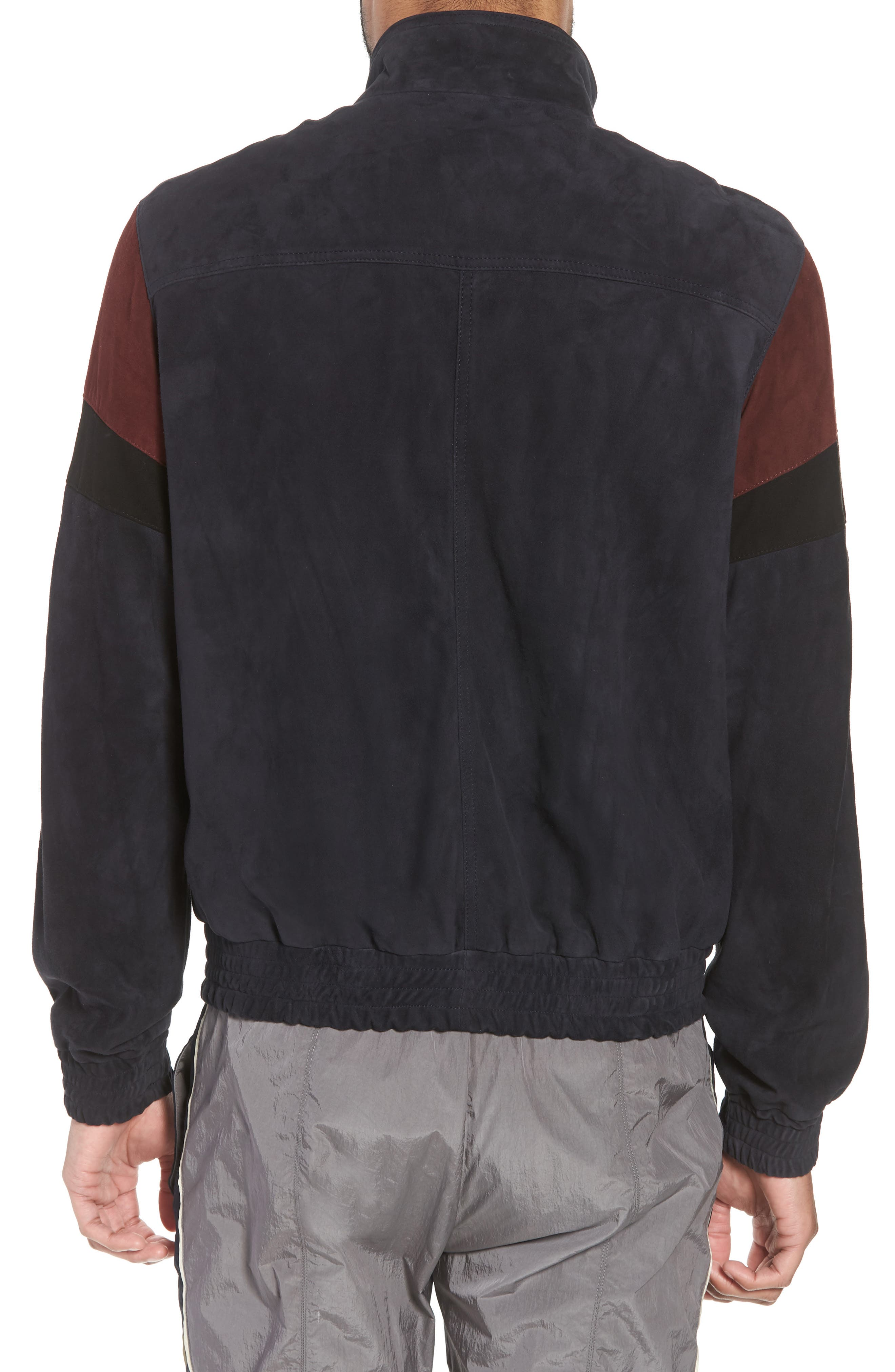 Colorblock Leather Track Jacket,                             Alternate thumbnail 2, color,                             New Coastal