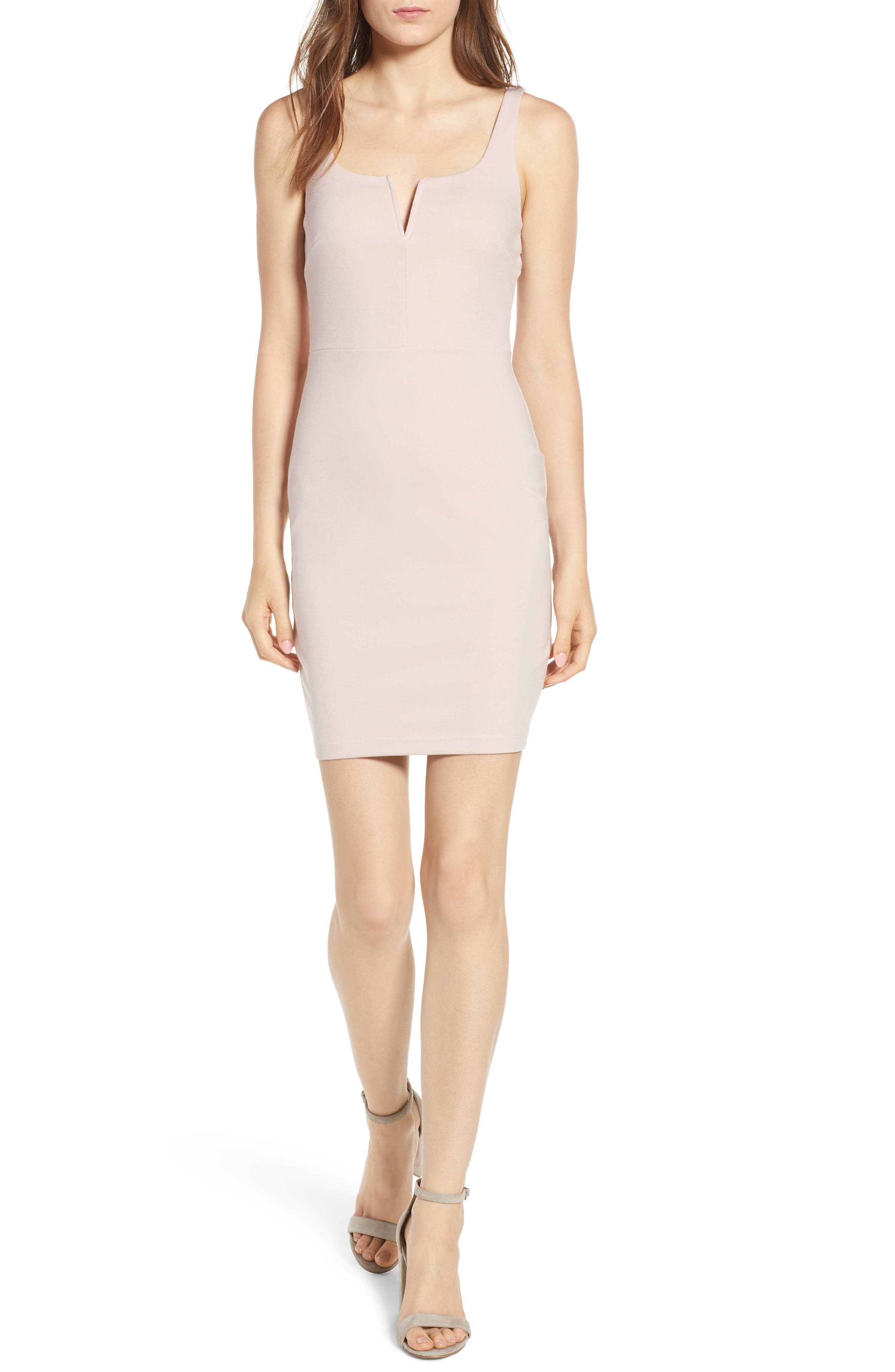 Body-Con Minidress,                             Main thumbnail 1, color,                             Dusty Rose