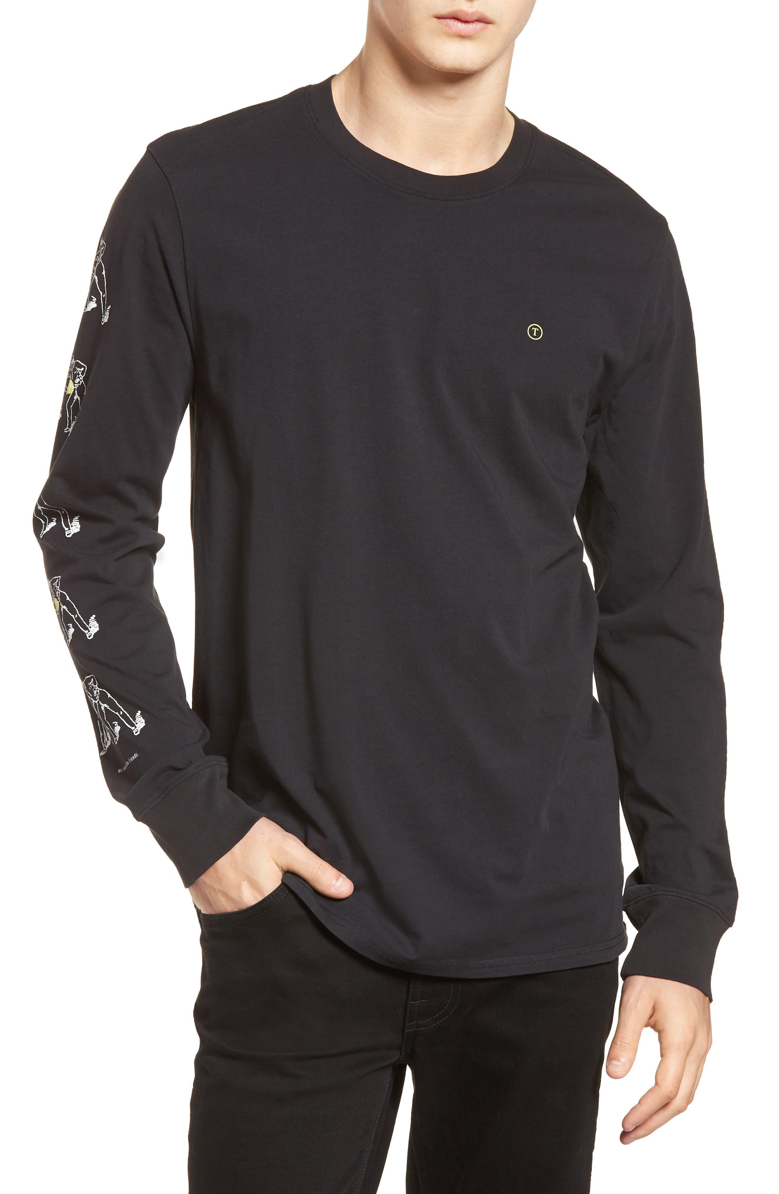 Conflict Graphic T-Shirt,                         Main,                         color, Black