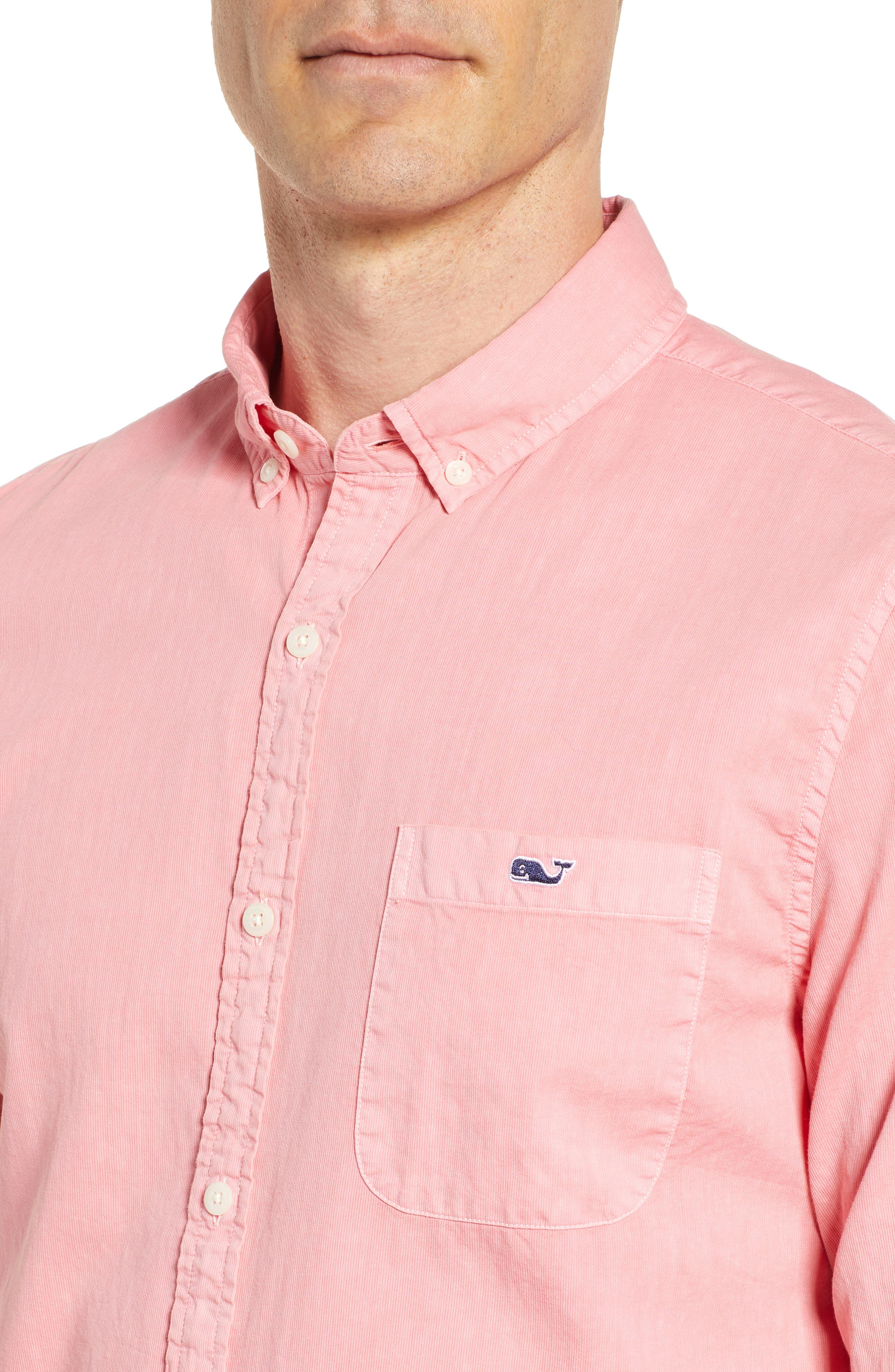 Tucker Slim Fit Solid Cotton & Silk Sport Shirt,                             Alternate thumbnail 2, color,                             Strawberry Blonde