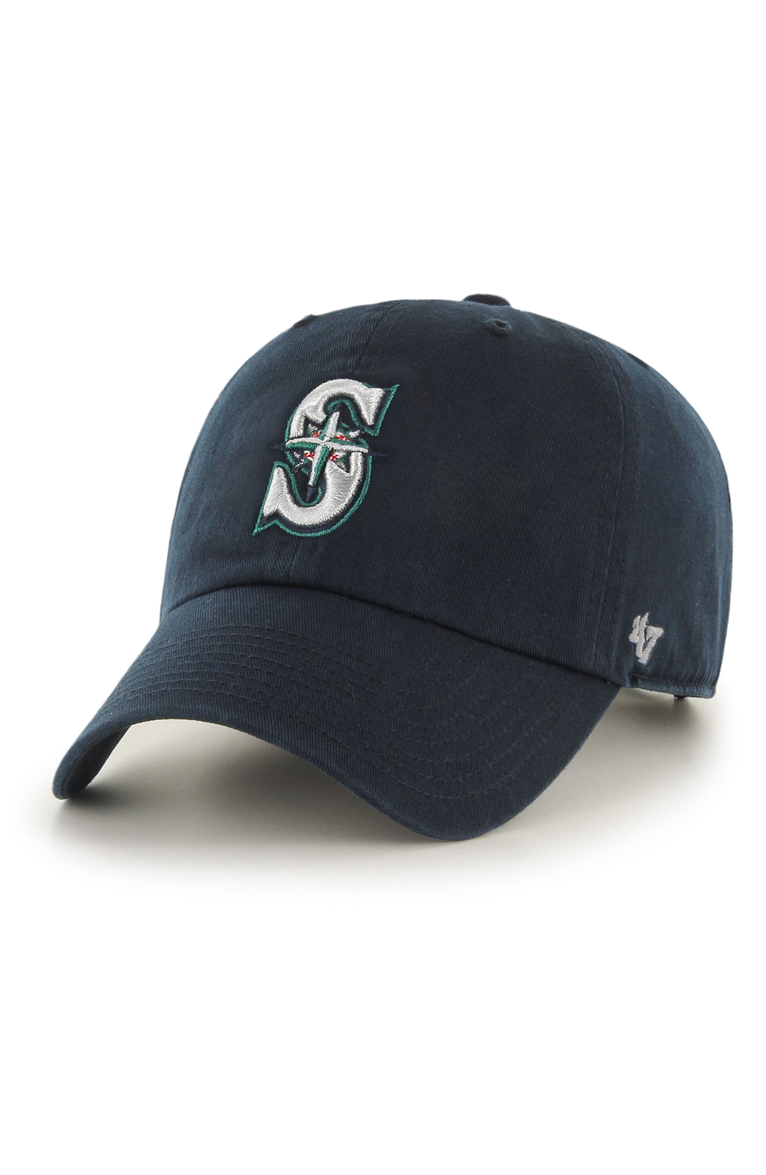 Clean Up - MLB Ball Cap,                             Main thumbnail 1, color,                             Seattle Mariners