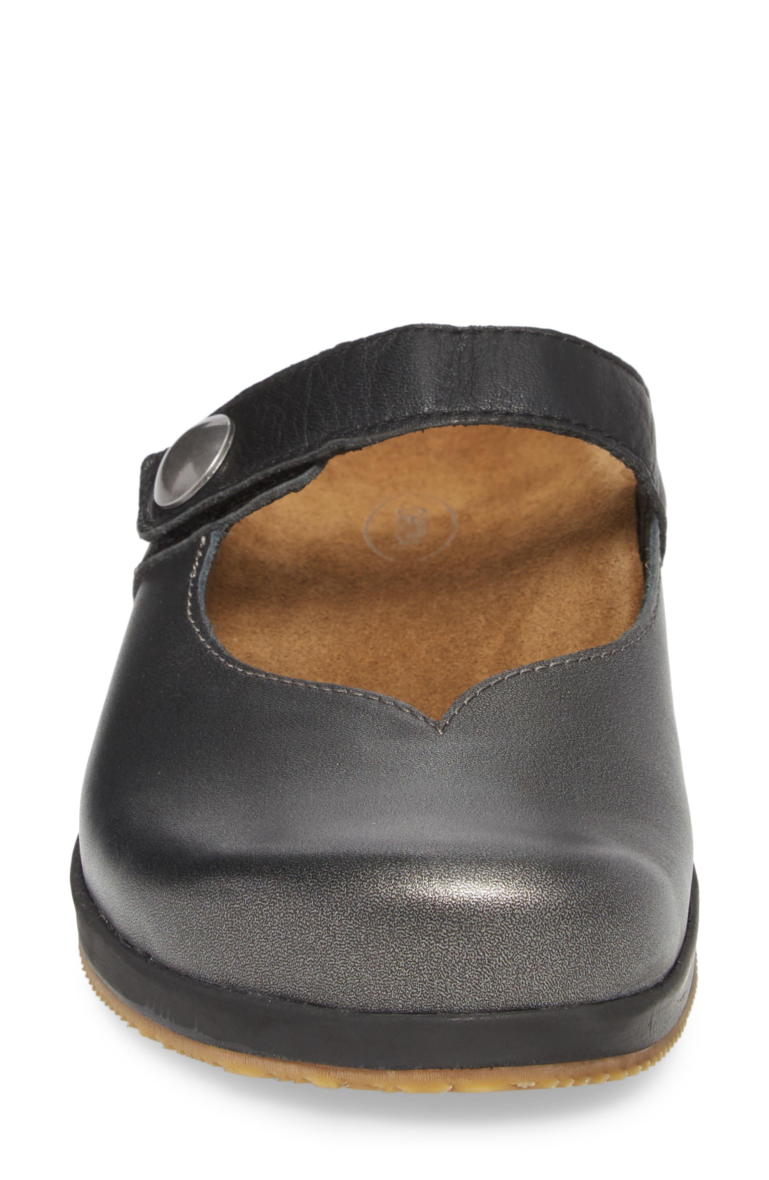 Scarlett Clog,                             Alternate thumbnail 4, color,                             Pewter Leather