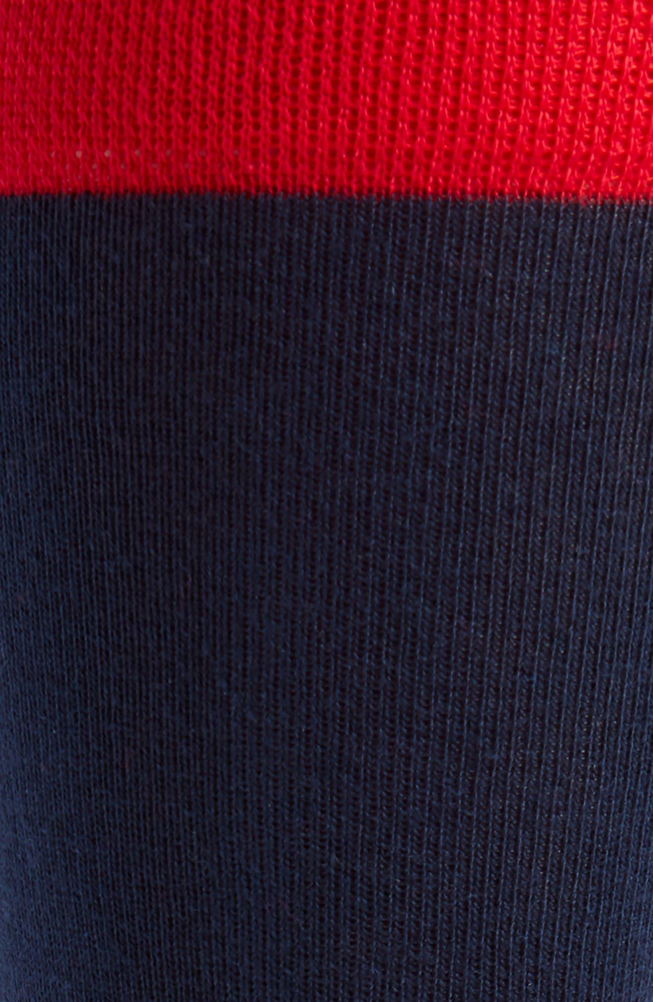 Colorblock Socks,                             Alternate thumbnail 2, color,                             Navy