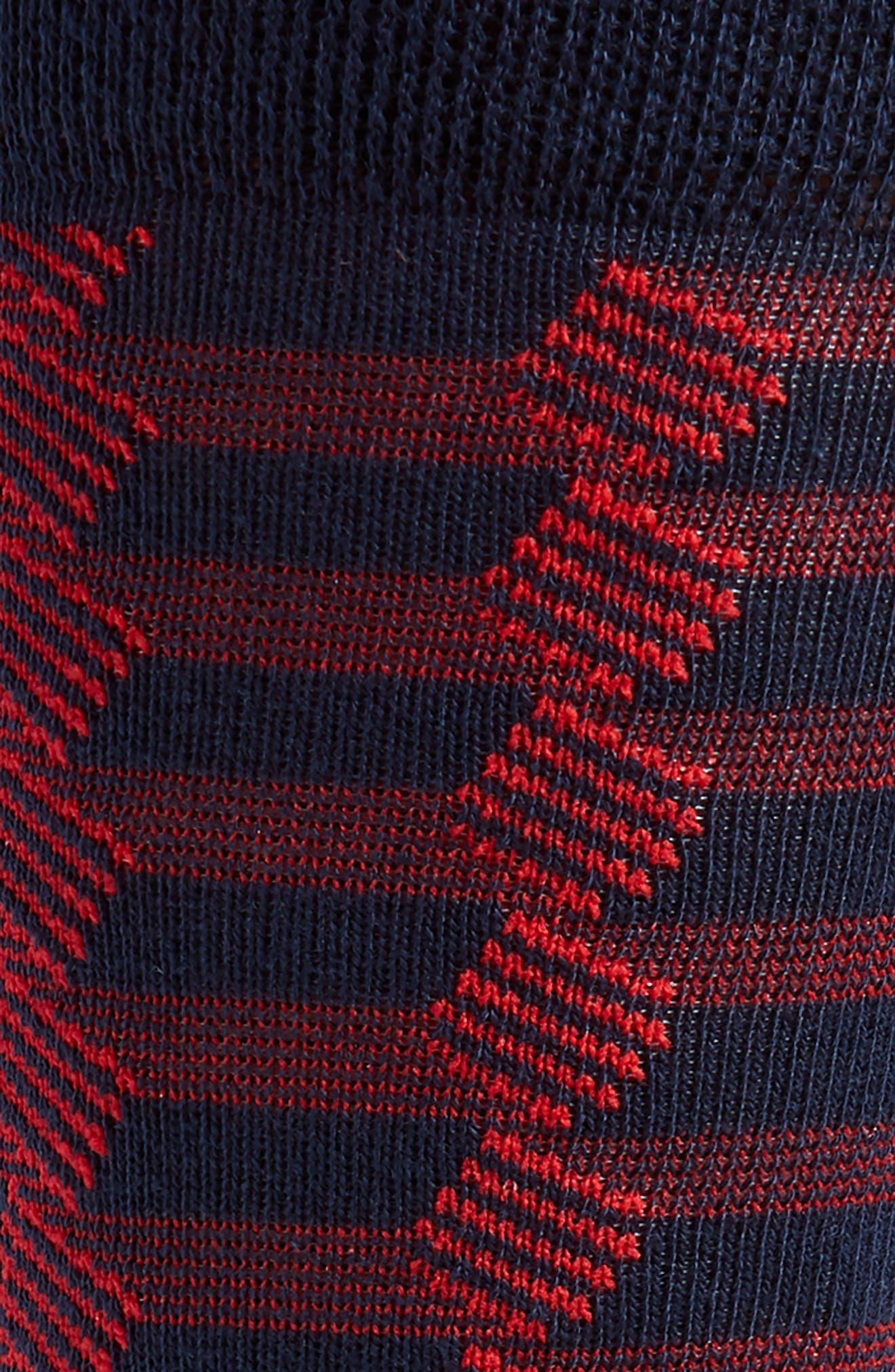 Geometric Socks,                             Alternate thumbnail 2, color,                             Navy