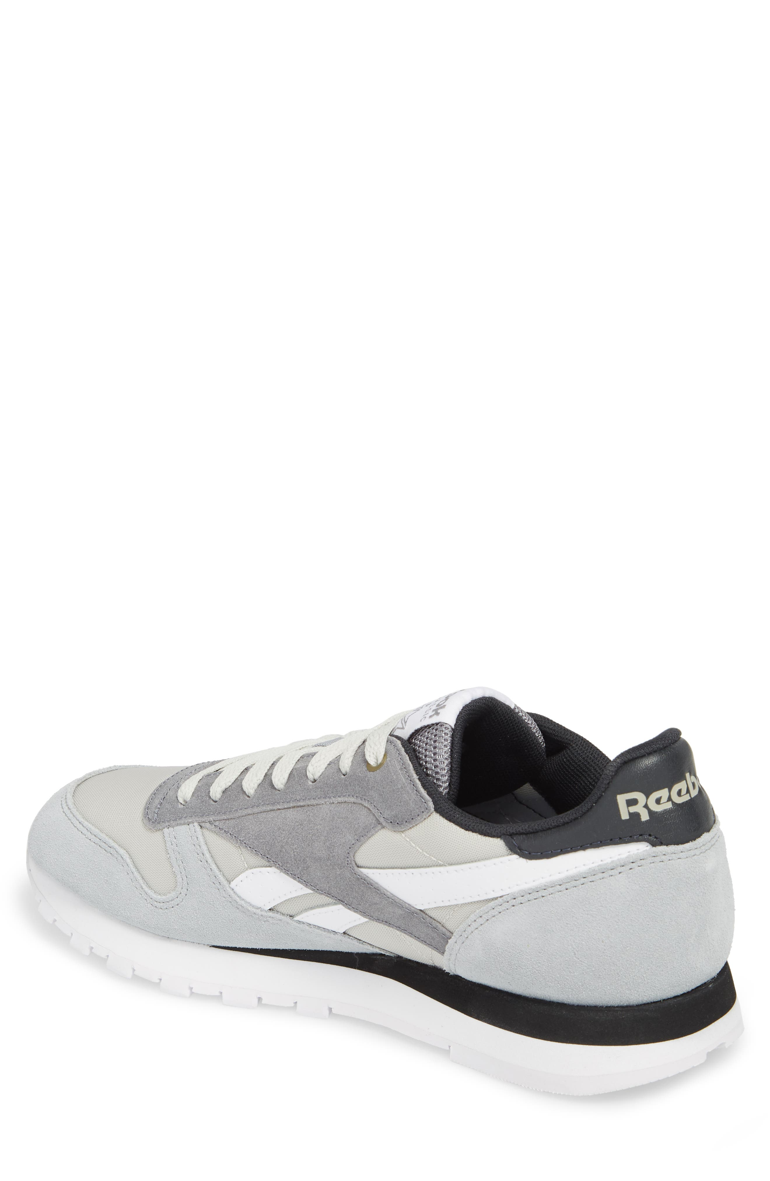 Classic Leather MCCS Sneaker,                             Alternate thumbnail 2, color,                             Grey/ White