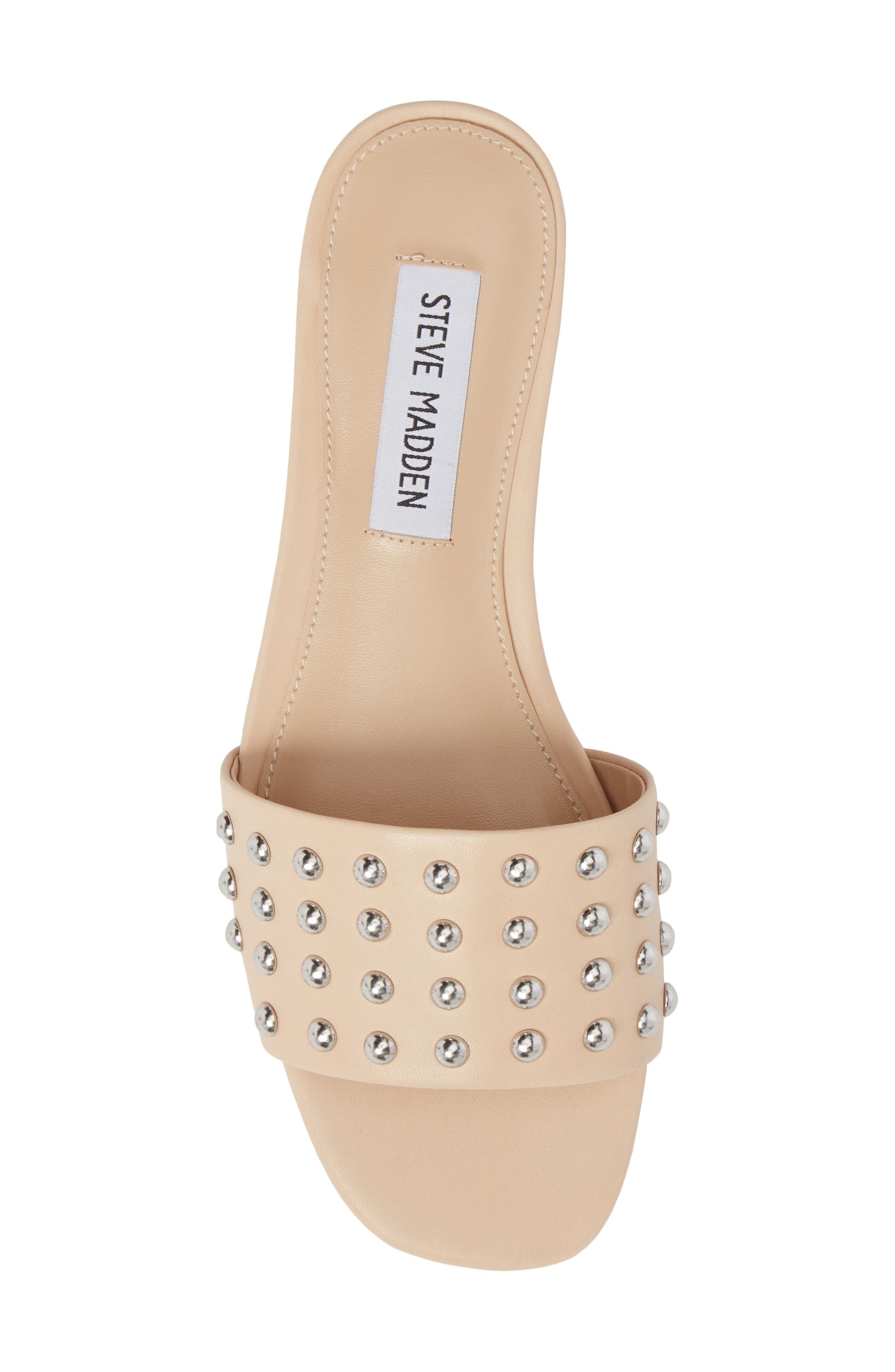 Viv Studded Slide Sandal,                             Alternate thumbnail 5, color,                             Blush Leather