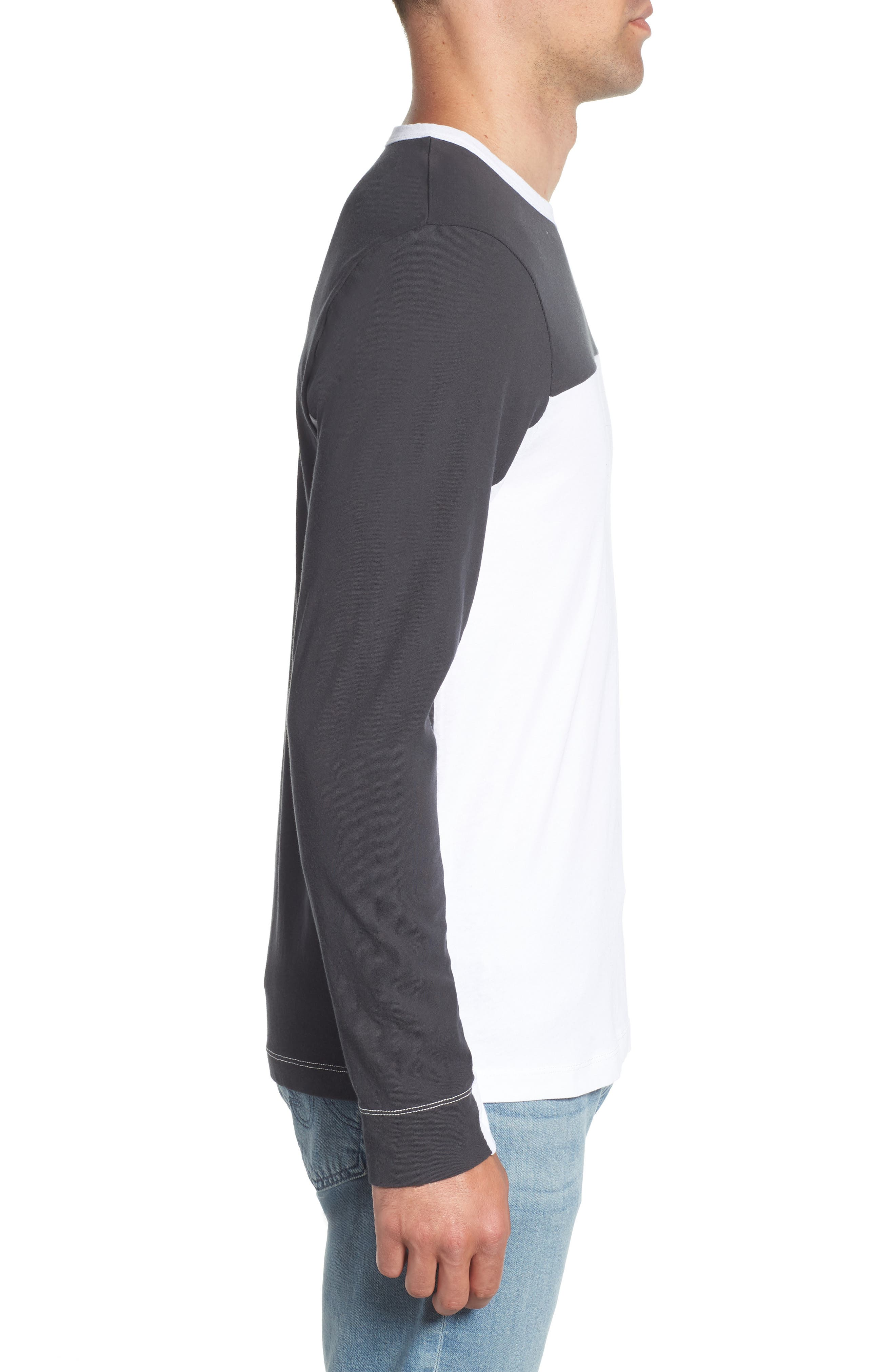 Colorblock Motocross Shirt,                             Alternate thumbnail 3, color,                             Carbon White