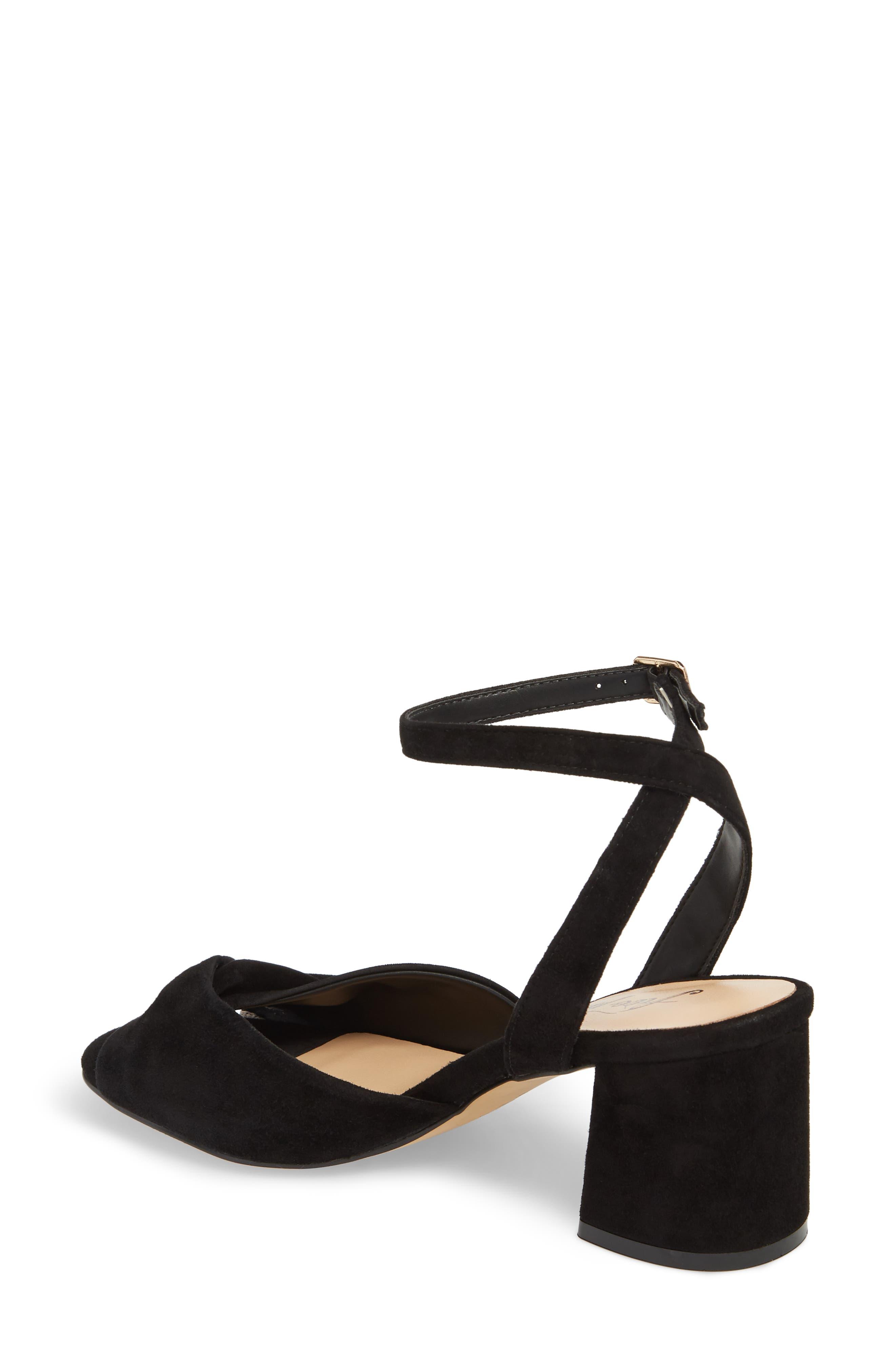 Gisele Twisted Sandal,                             Alternate thumbnail 2, color,                             Black