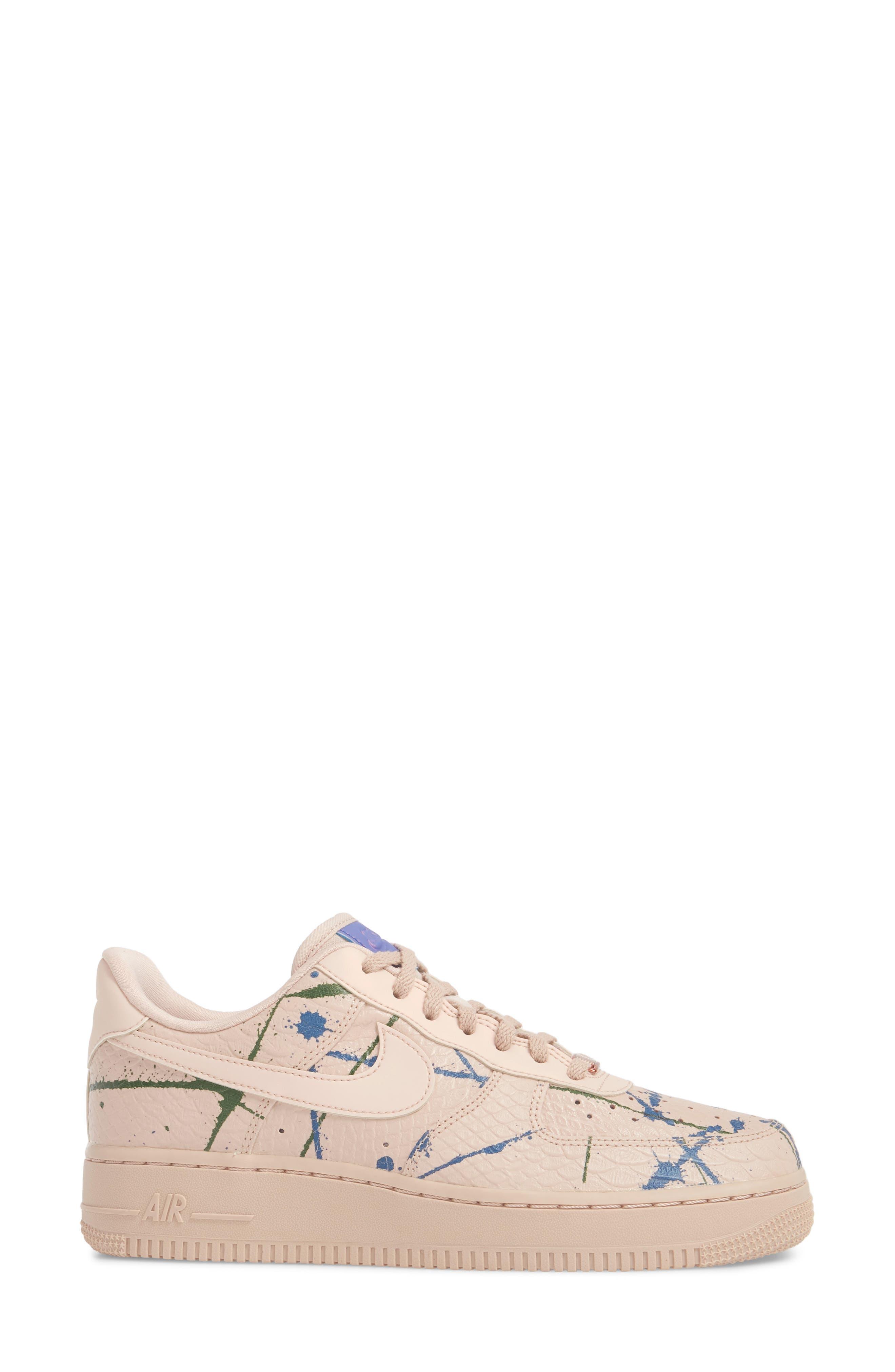 Air Force 1 '07 LX Sneaker,                             Alternate thumbnail 3, color,                             Particle Beige