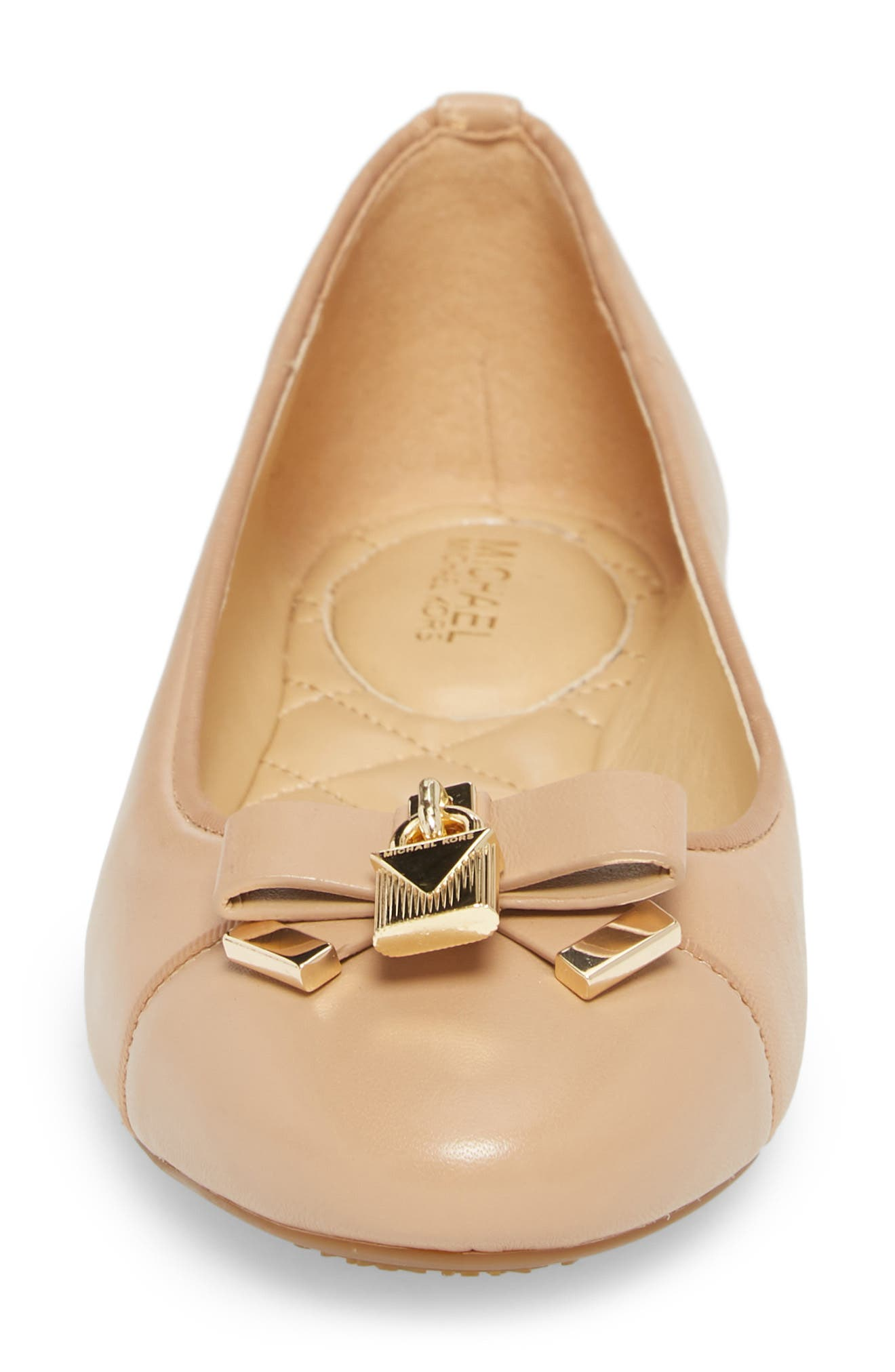 Alice Ballet Flat,                             Alternate thumbnail 4, color,                             Toffee Leather