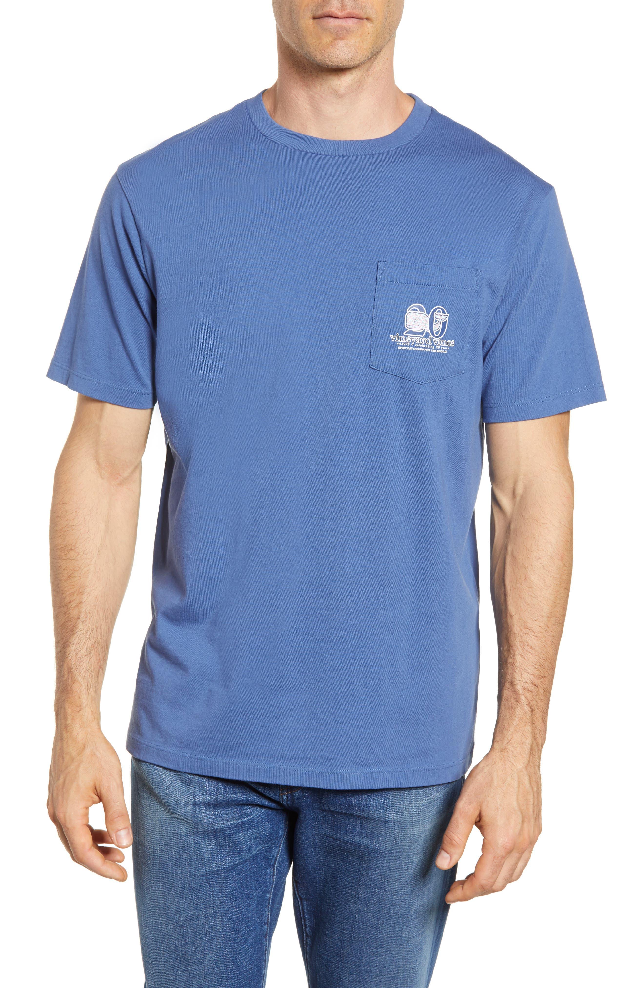 Patchwork Whale Pocket T-Shirt,                             Main thumbnail 1, color,                             Moonshine