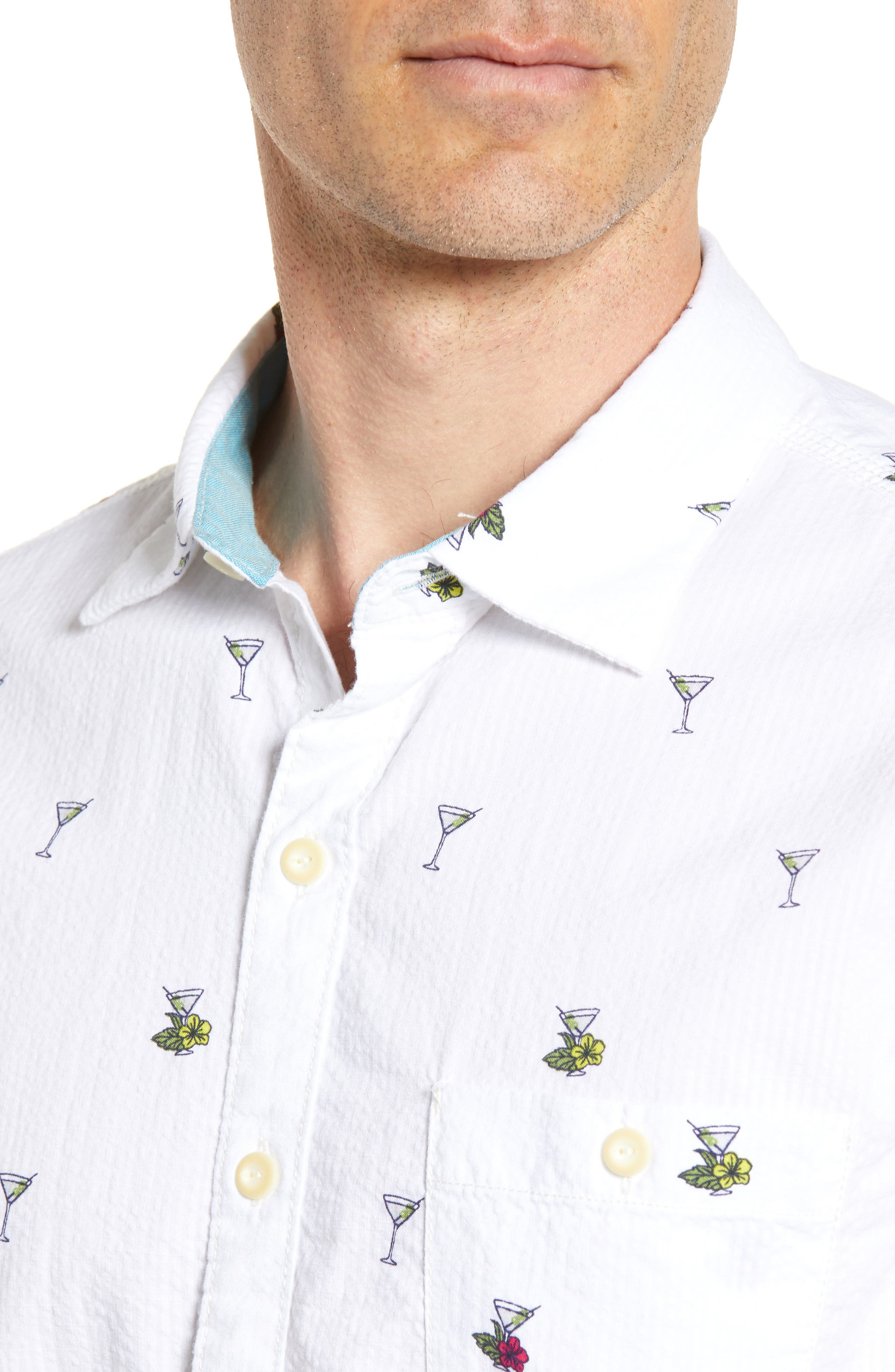Mix Master Seersucker Shirt,                             Alternate thumbnail 2, color,                             Continental