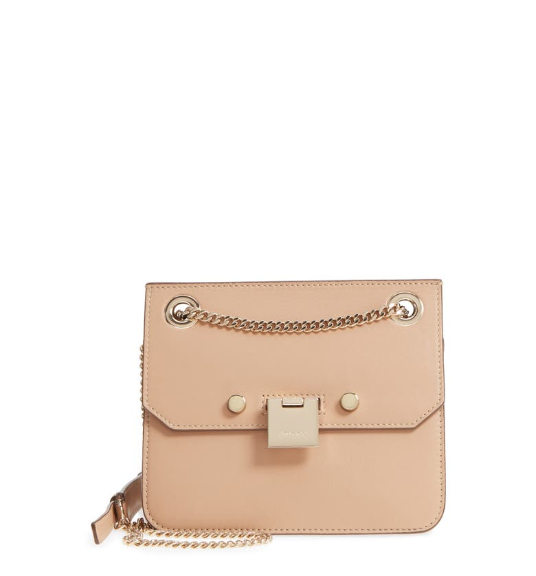 c7dfec2a301 Jimmy Choo Rebel/Xb Ballet Pink Soft Grained Goat Leather Cross Body Bag