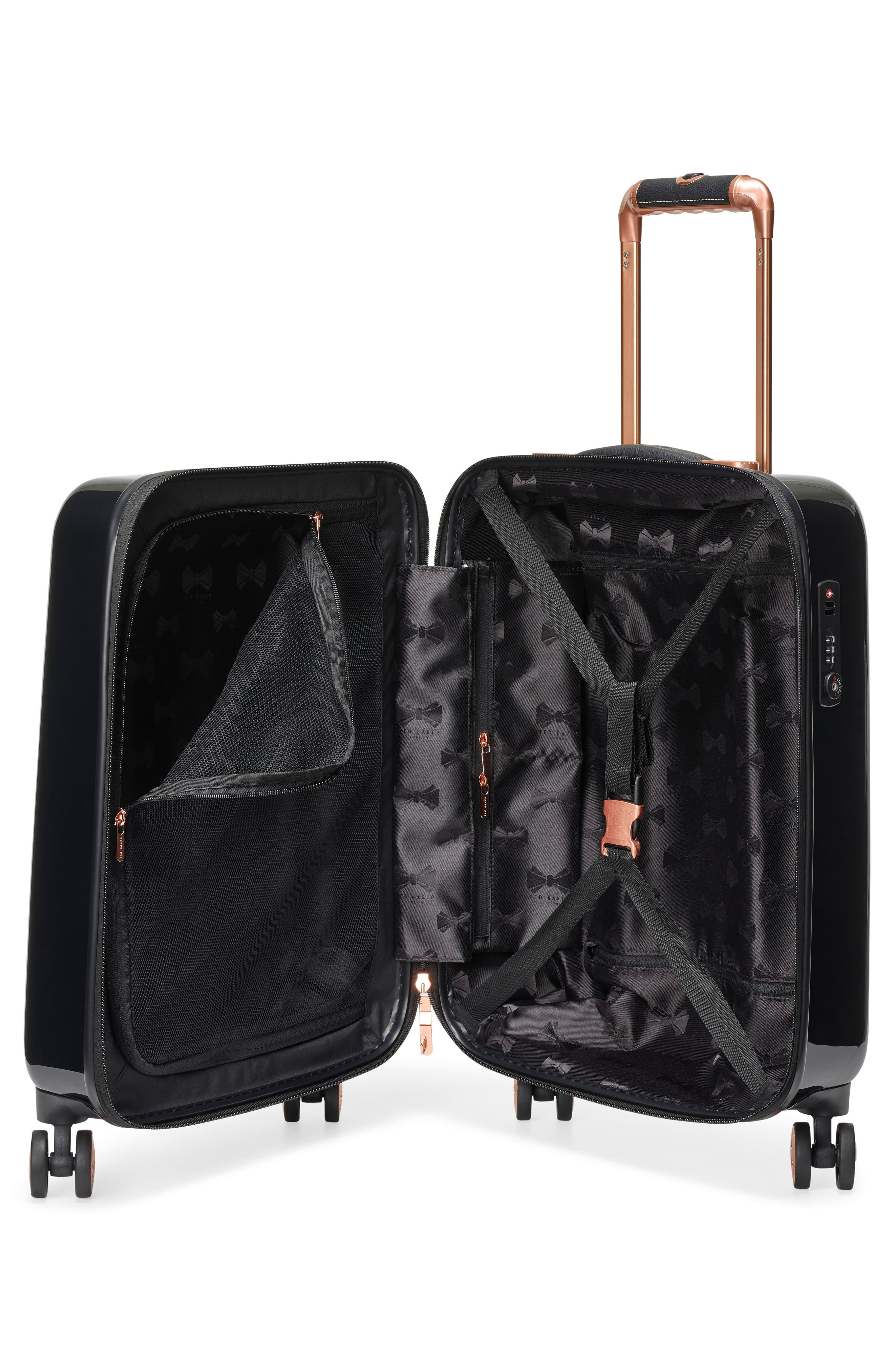Small Versailles 21-Inch Spinner Carry-On,                             Alternate thumbnail 2, color,                             Black