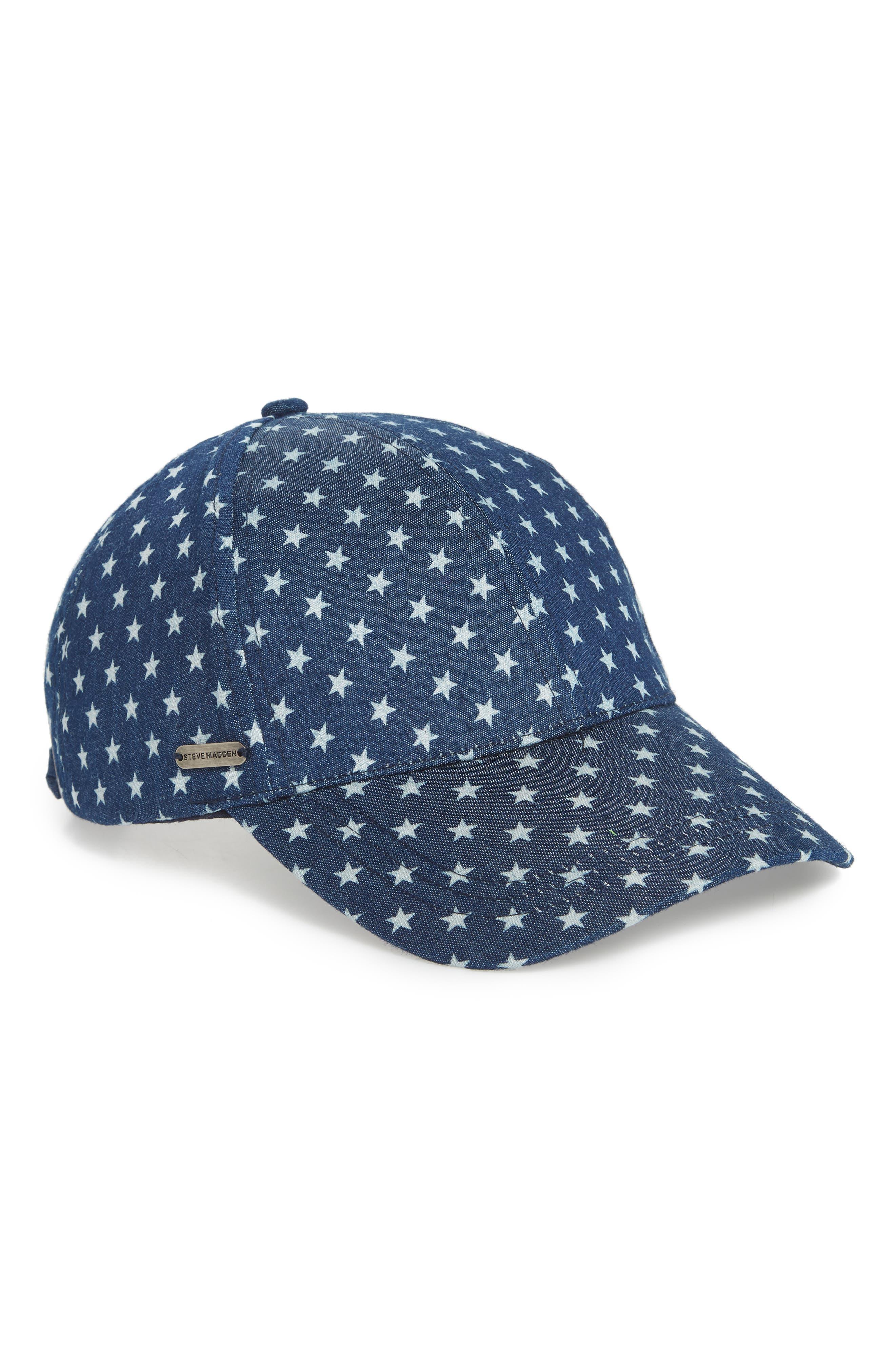 Lucky Stars Baseball Cap,                         Main,                         color, Dark Denim