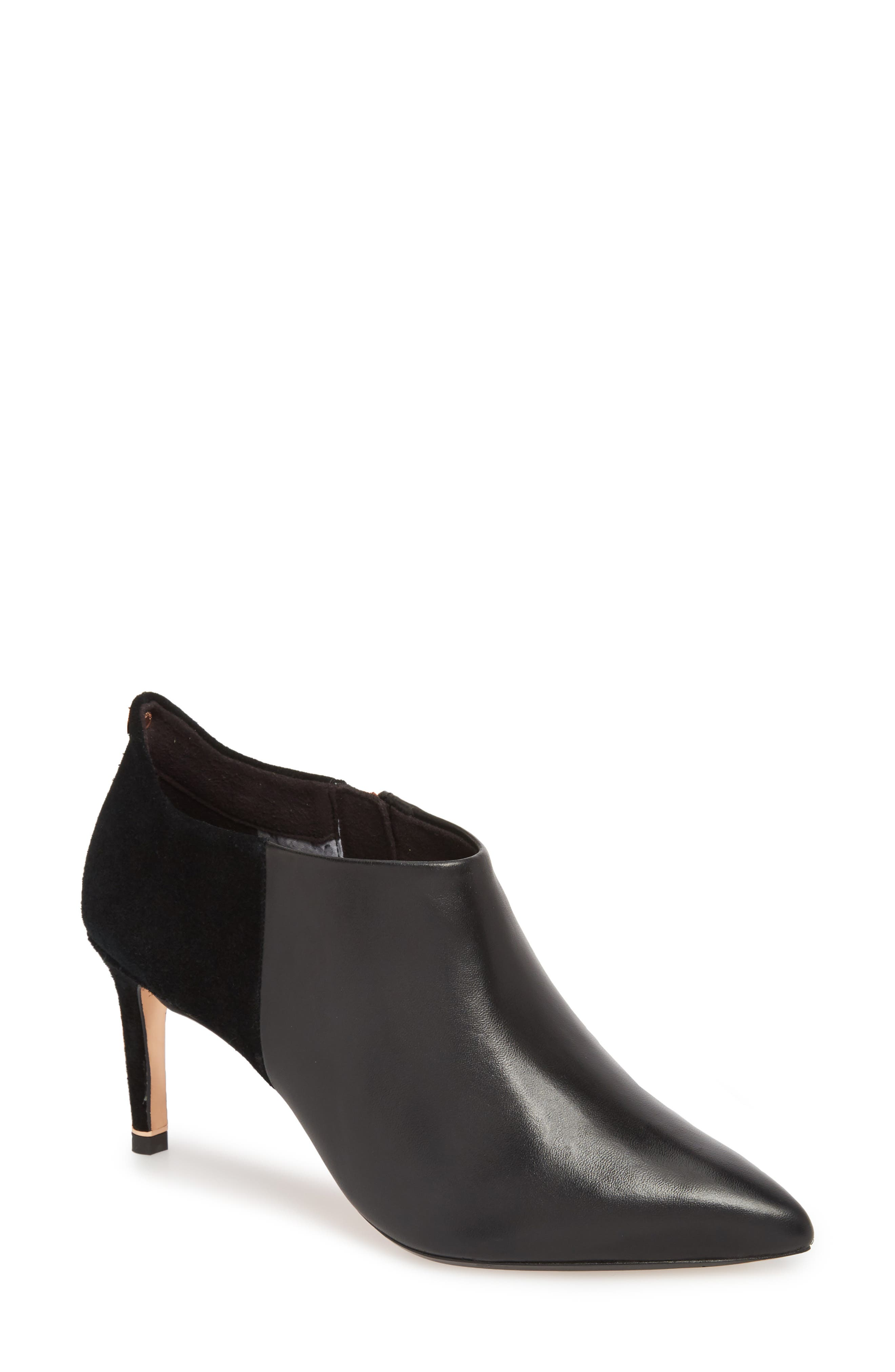 Akasha 2 Bootie,                         Main,                         color, Black Leather