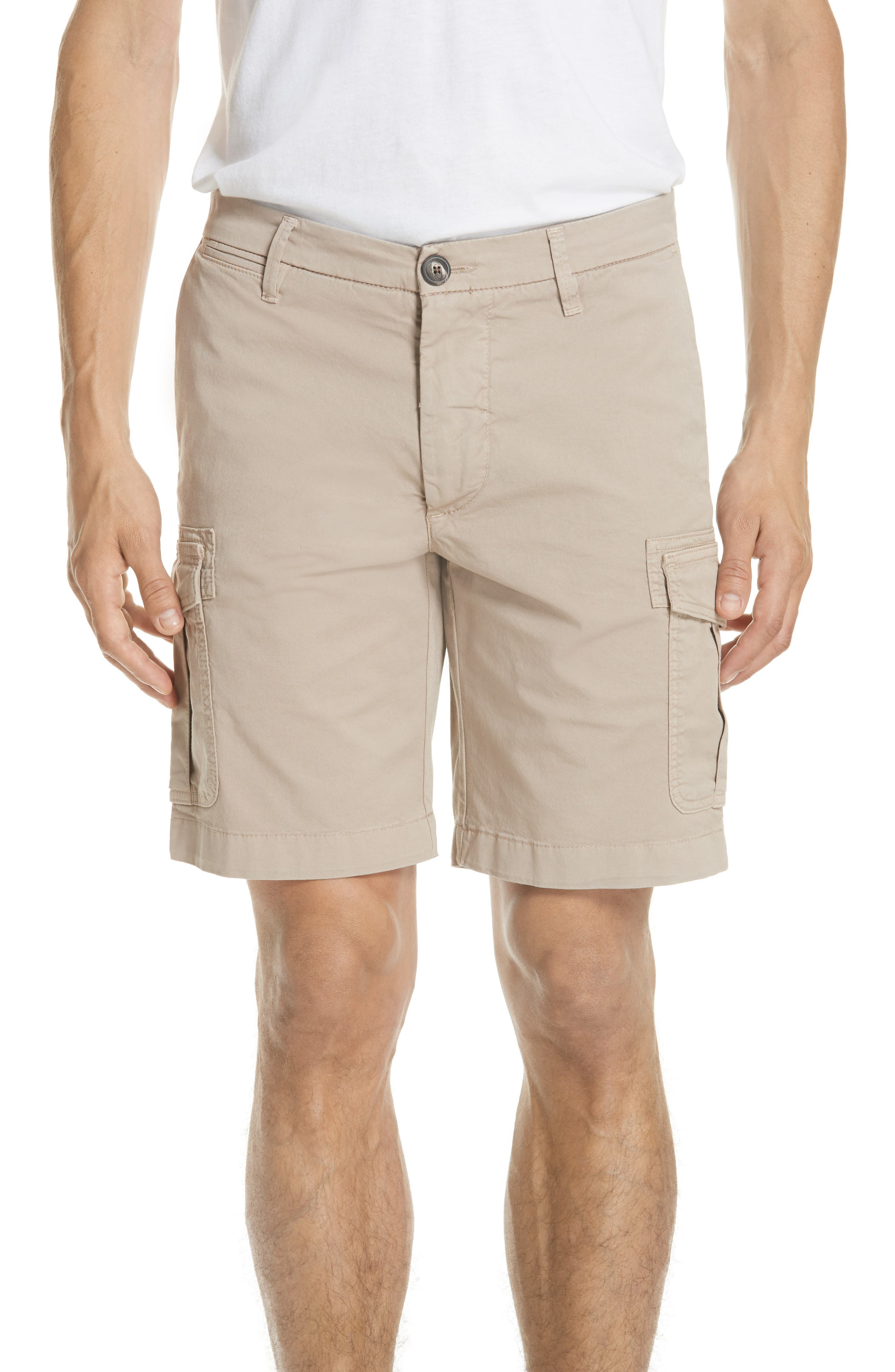 Stretch Cotton Cargo Shorts,                         Main,                         color, Sand