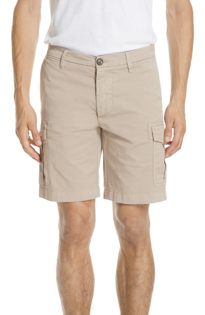 Stretch Cotton Cargo Shorts
