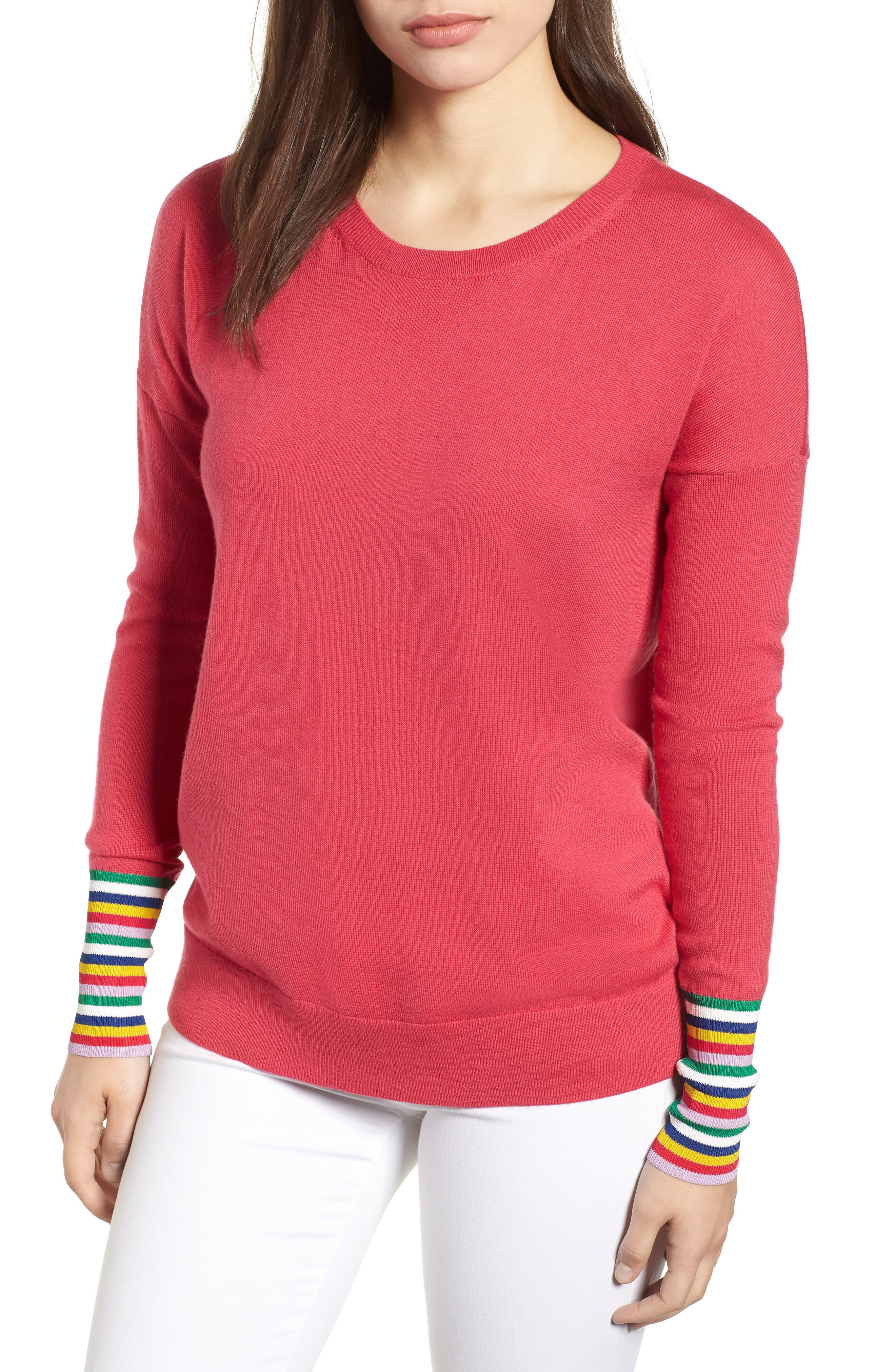 Cassandra Sweater,                         Main,                         color, Carnival Pink