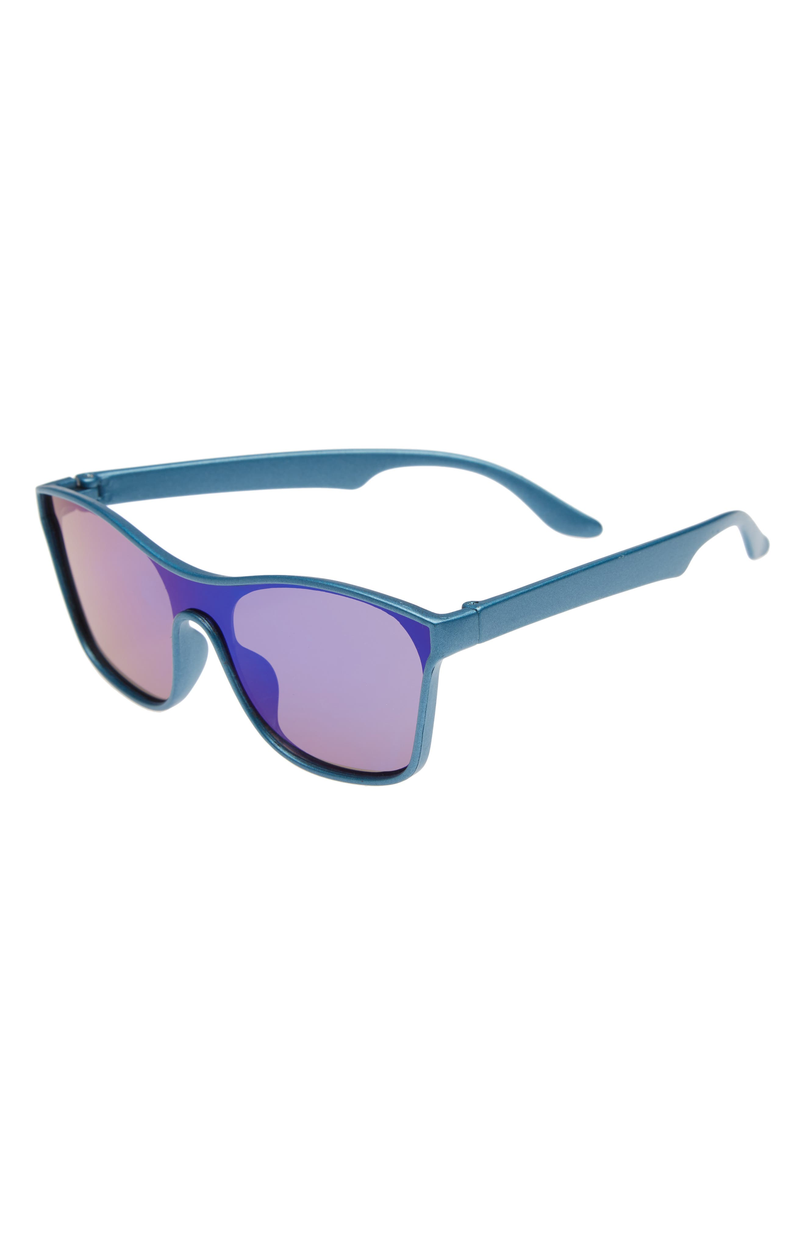 Mirrored Sunglasses,                             Main thumbnail 1, color,                             Blue Mirror