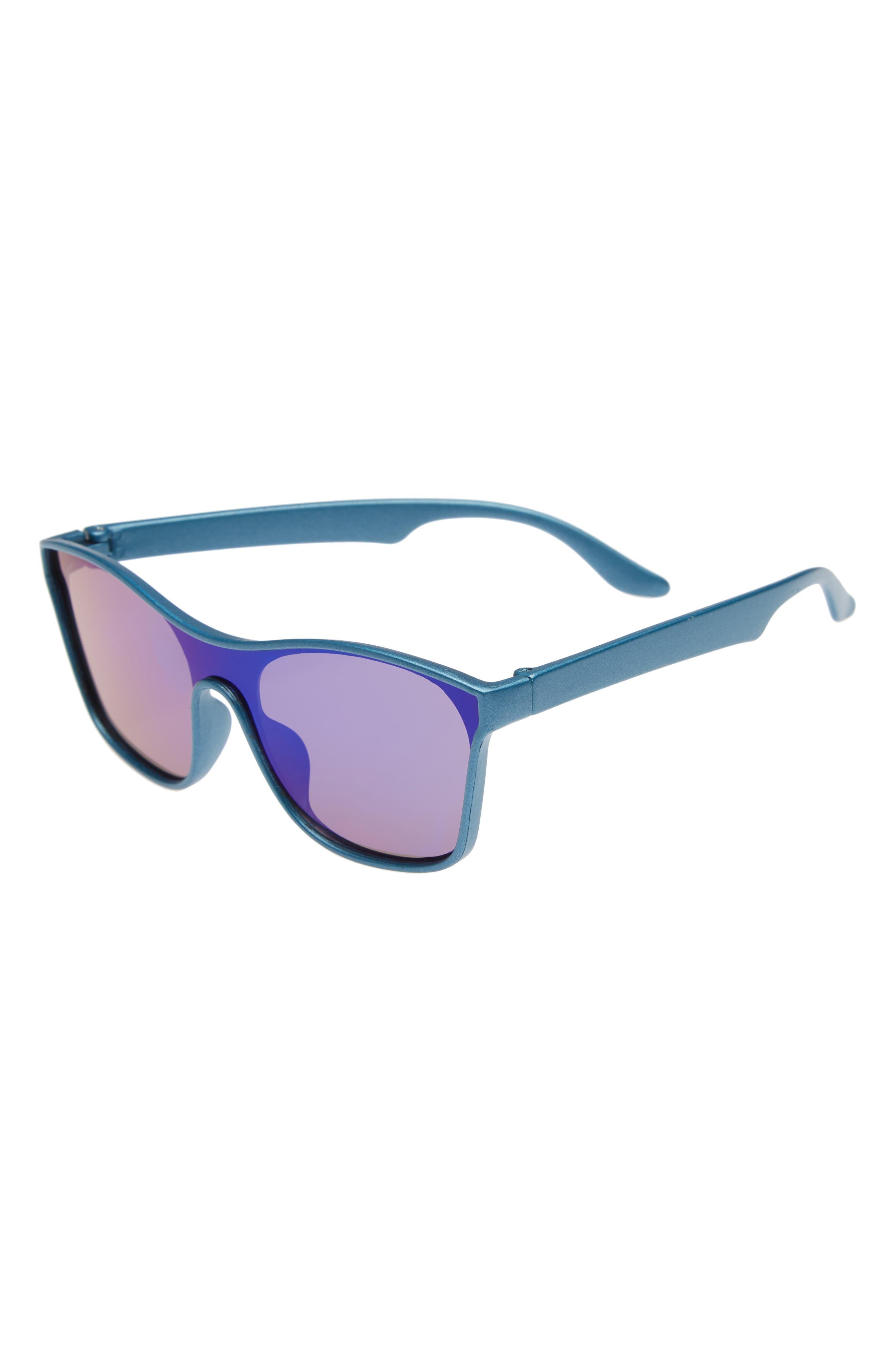 Mirrored Sunglasses,                         Main,                         color, Blue Mirror