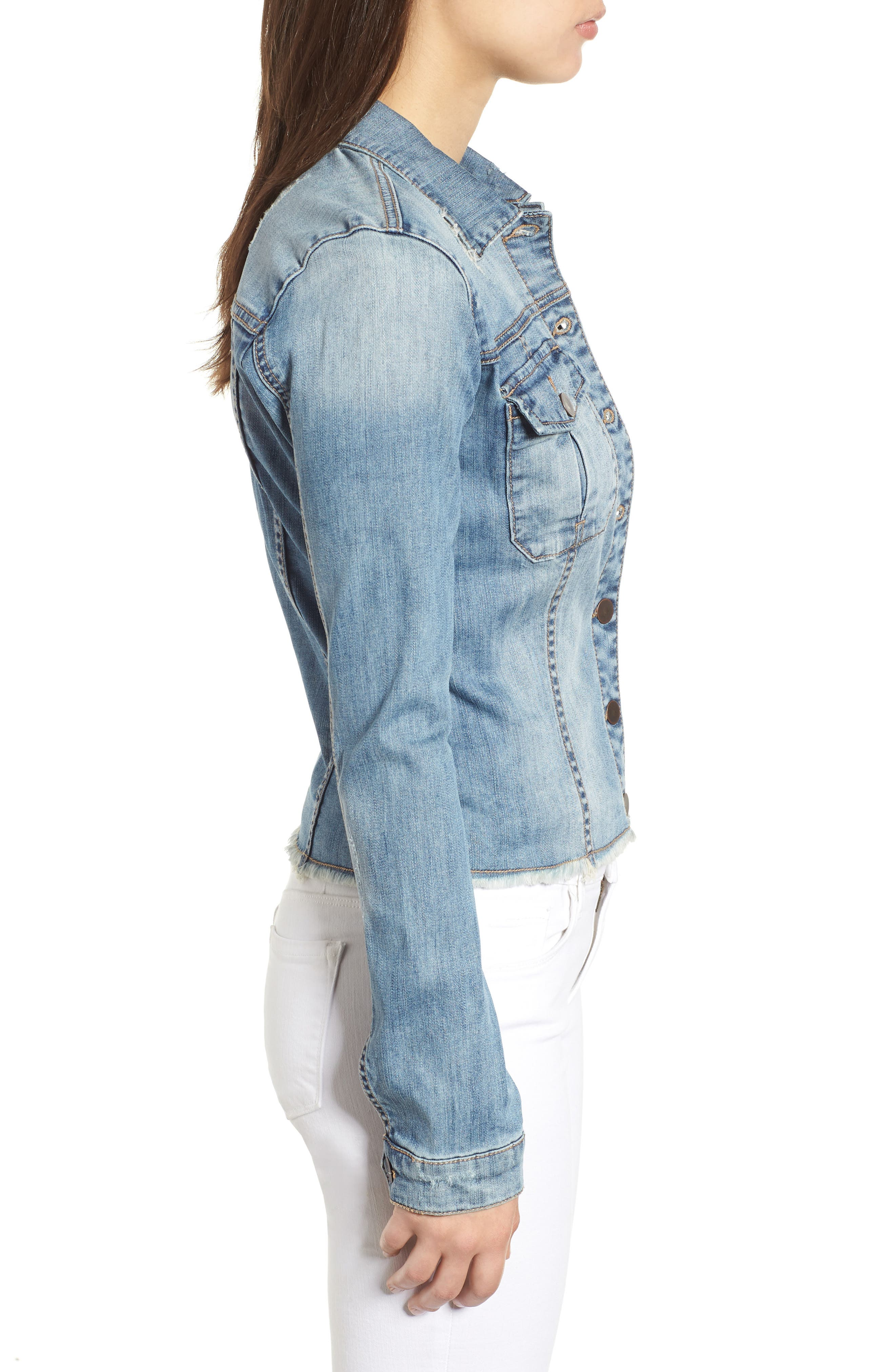 KUT from the Kloth Kara Denim Jacket,                             Alternate thumbnail 3, color,                             Confront