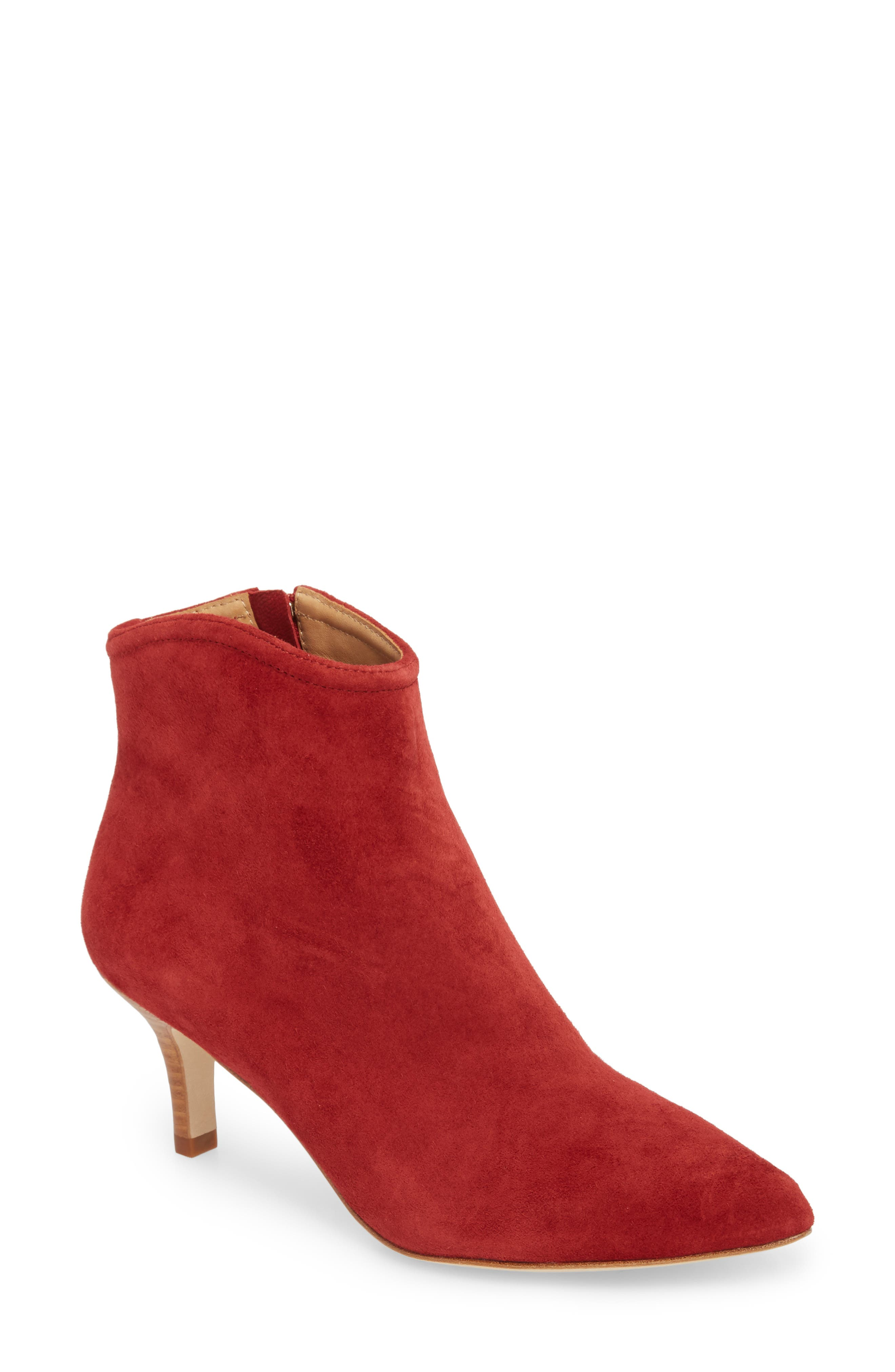 Ralean Almond Toe Bootie,                             Main thumbnail 1, color,                             Currant