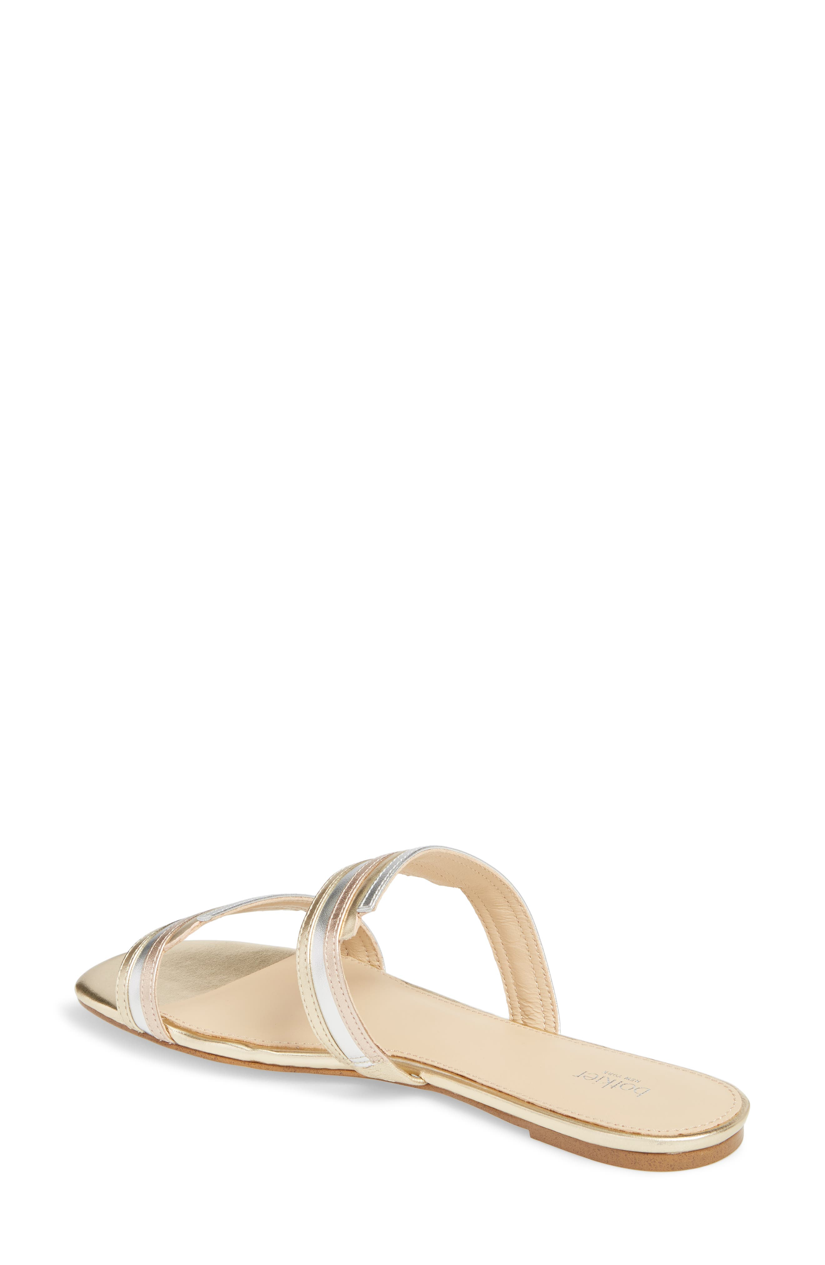 Maise Slide Sandal,                             Alternate thumbnail 2, color,                             Ivory Multi Leather