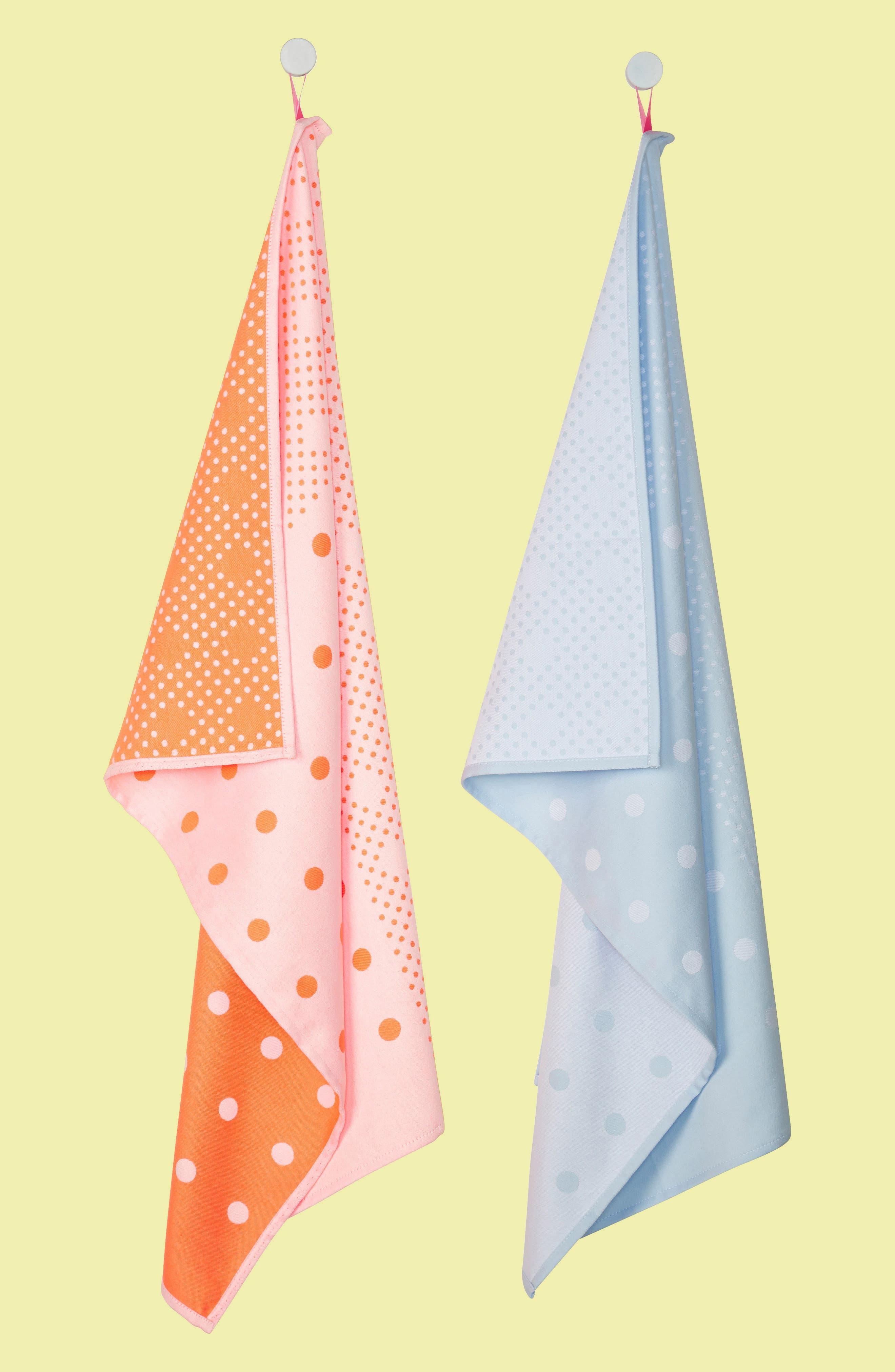 Tea Towels,                             Main thumbnail 1, color,                             Big Dots