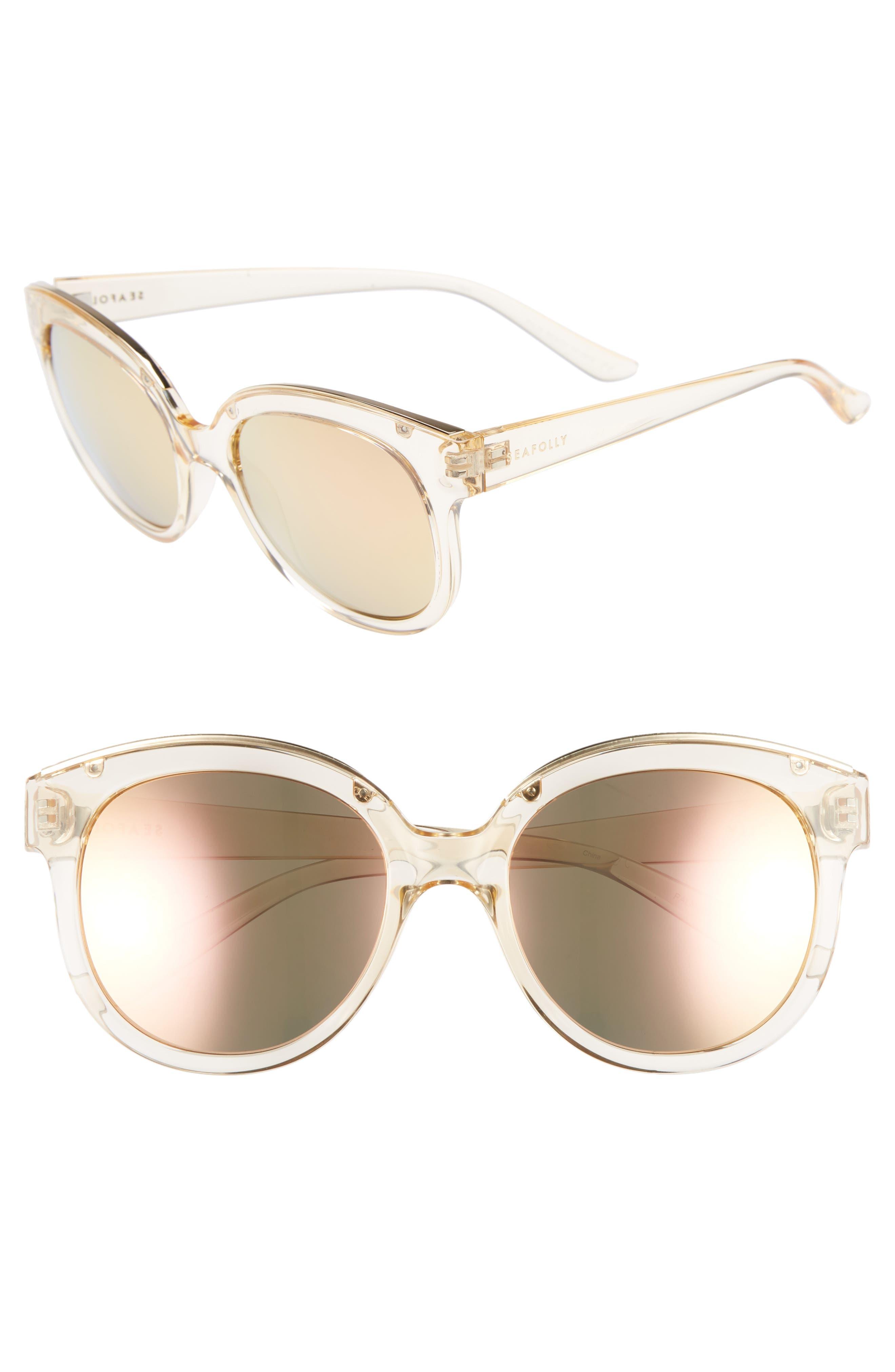 Palm Beach 54mm Cat Eye Sunglasses,                             Main thumbnail 1, color,                             Sand
