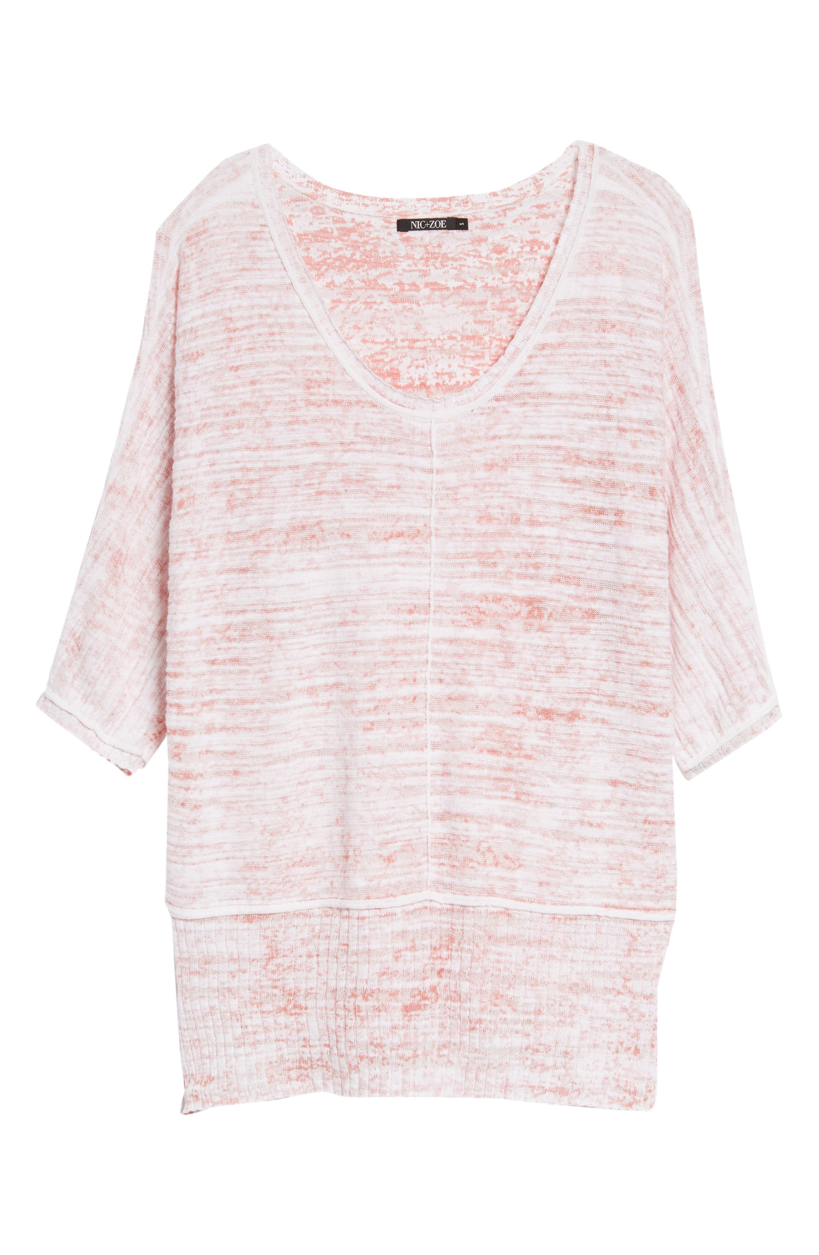 Open Breeze Linen Cotton Blend Sweater,                             Alternate thumbnail 6, color,                             Pink Clay