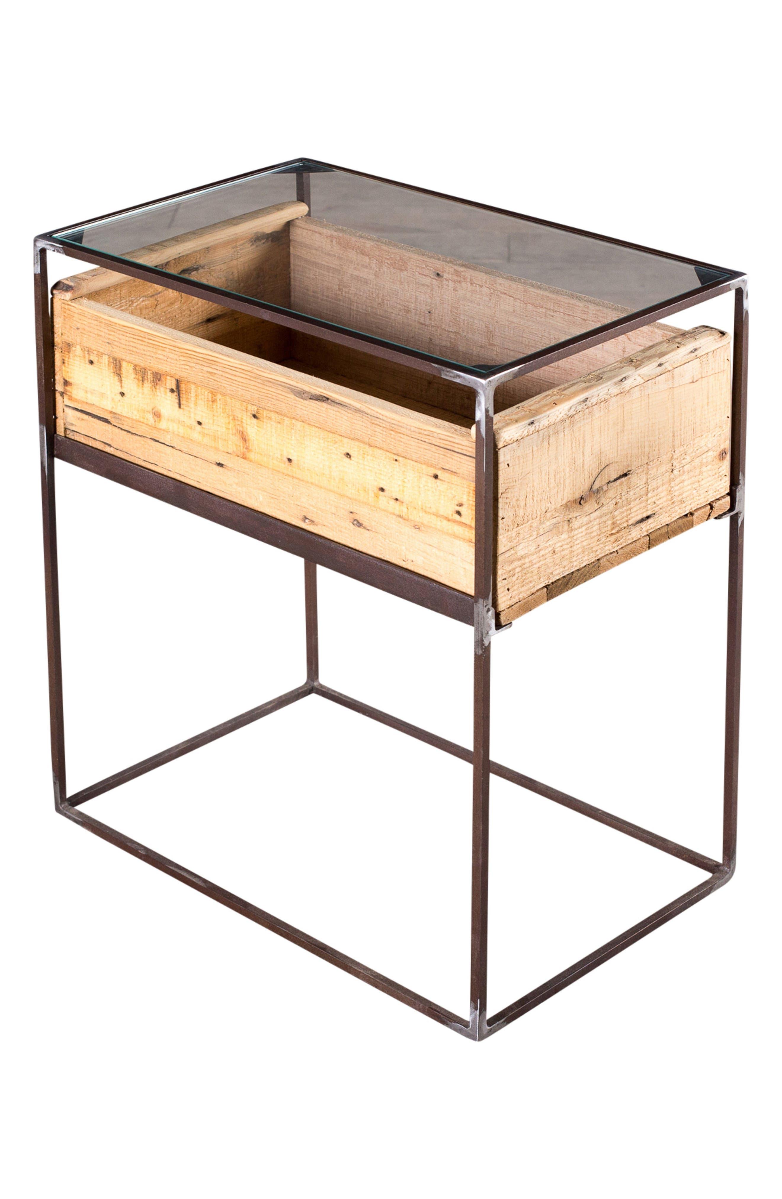 Landon Wood Box Side Table,                             Alternate thumbnail 3, color,                             Natural
