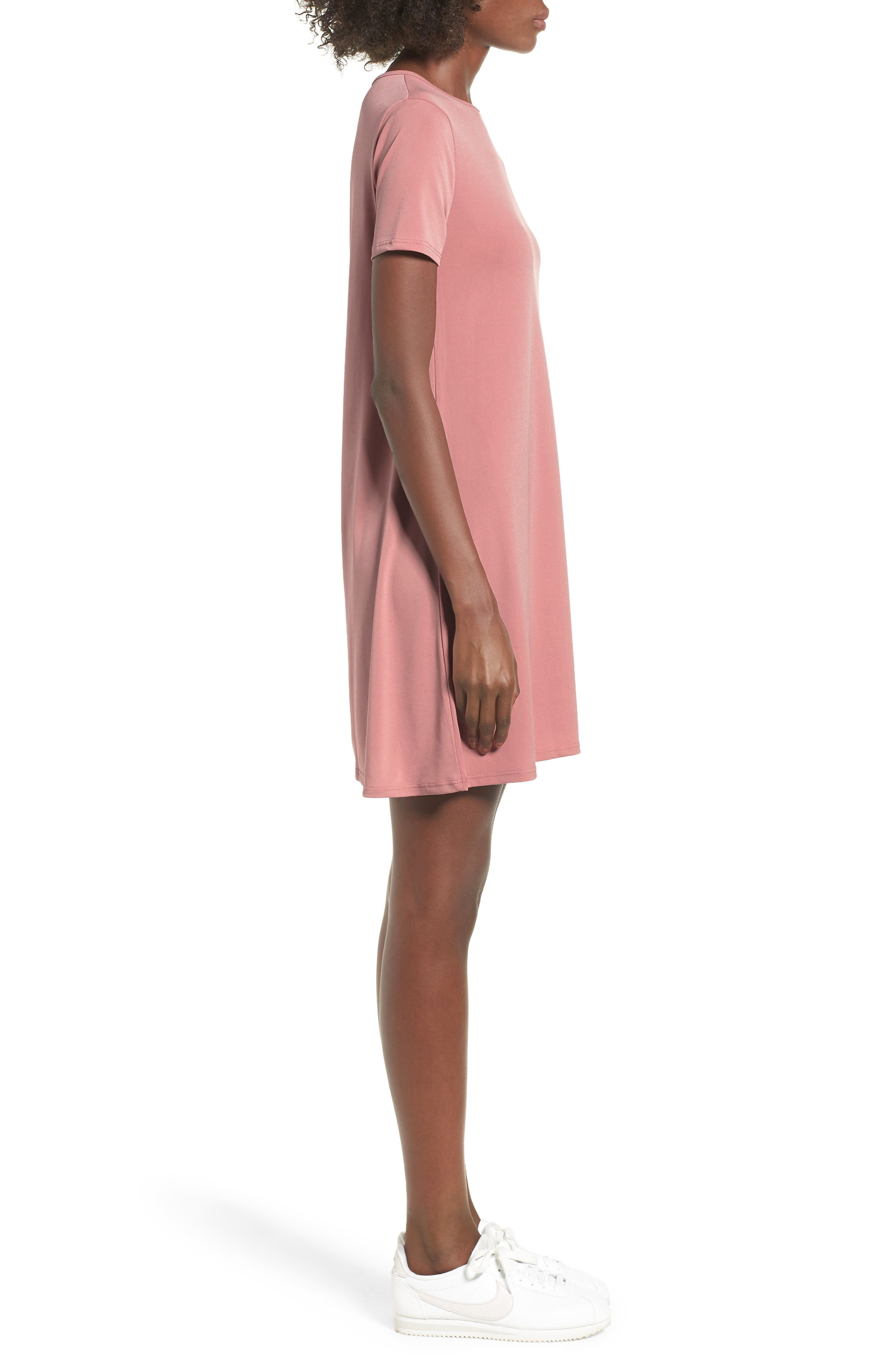 Swing T-Shirt Dress,                             Alternate thumbnail 6, color,                             Rose