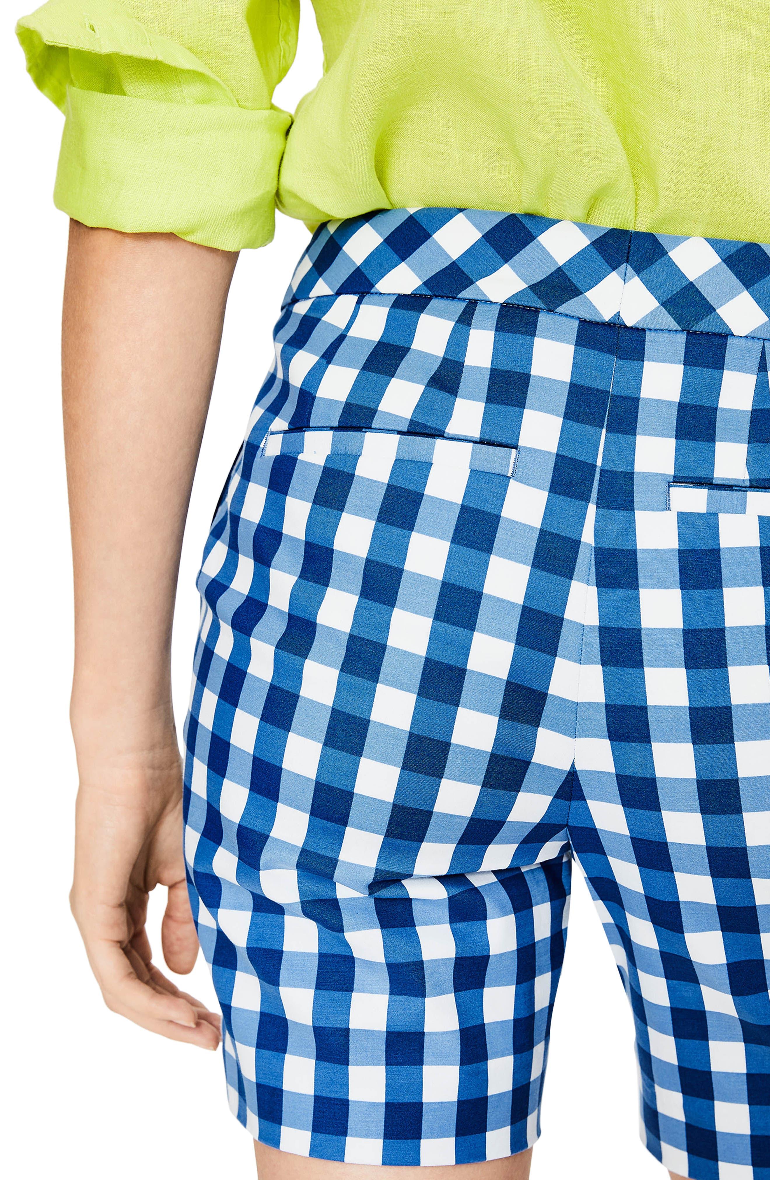 Richmond Check Shorts,                             Alternate thumbnail 4, color,                             Riviera Blue Gingham