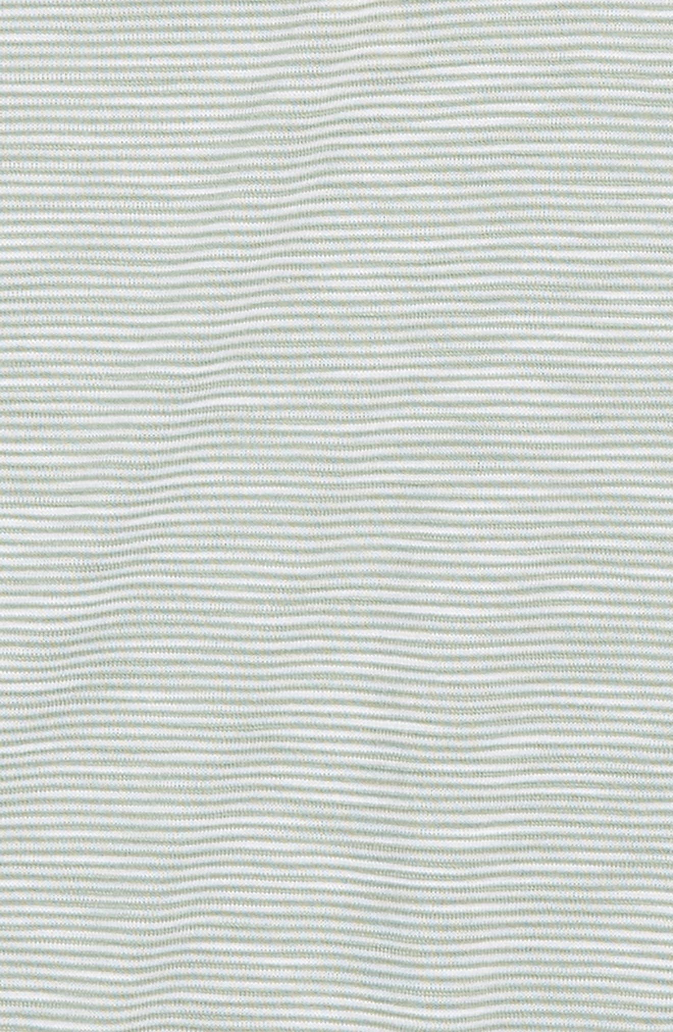 Stripe Peplum Tank,                             Alternate thumbnail 2, color,                             Green Hedge- White Stripe