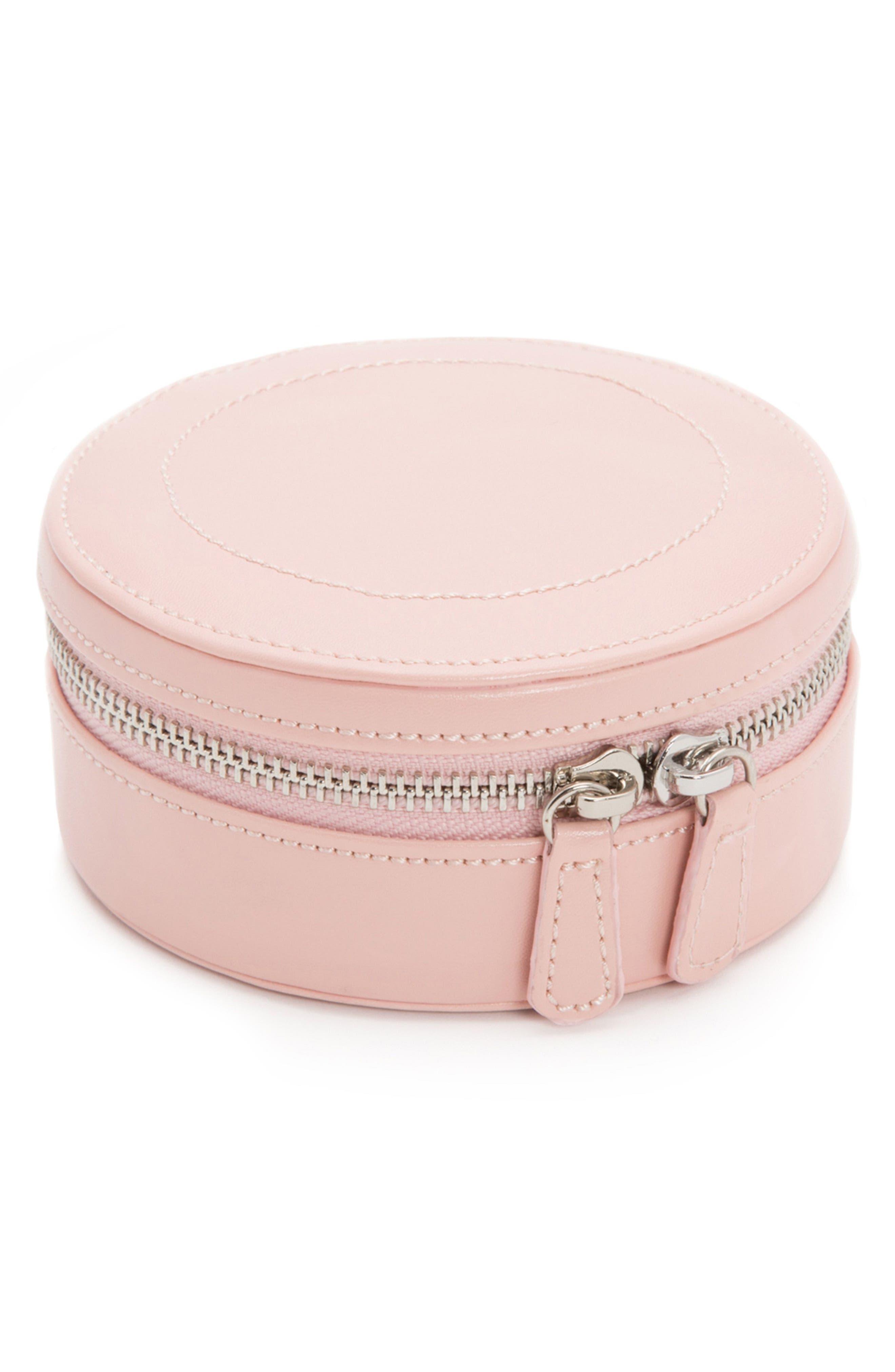 Sophia Round Zip Case,                         Main,                         color, Rose