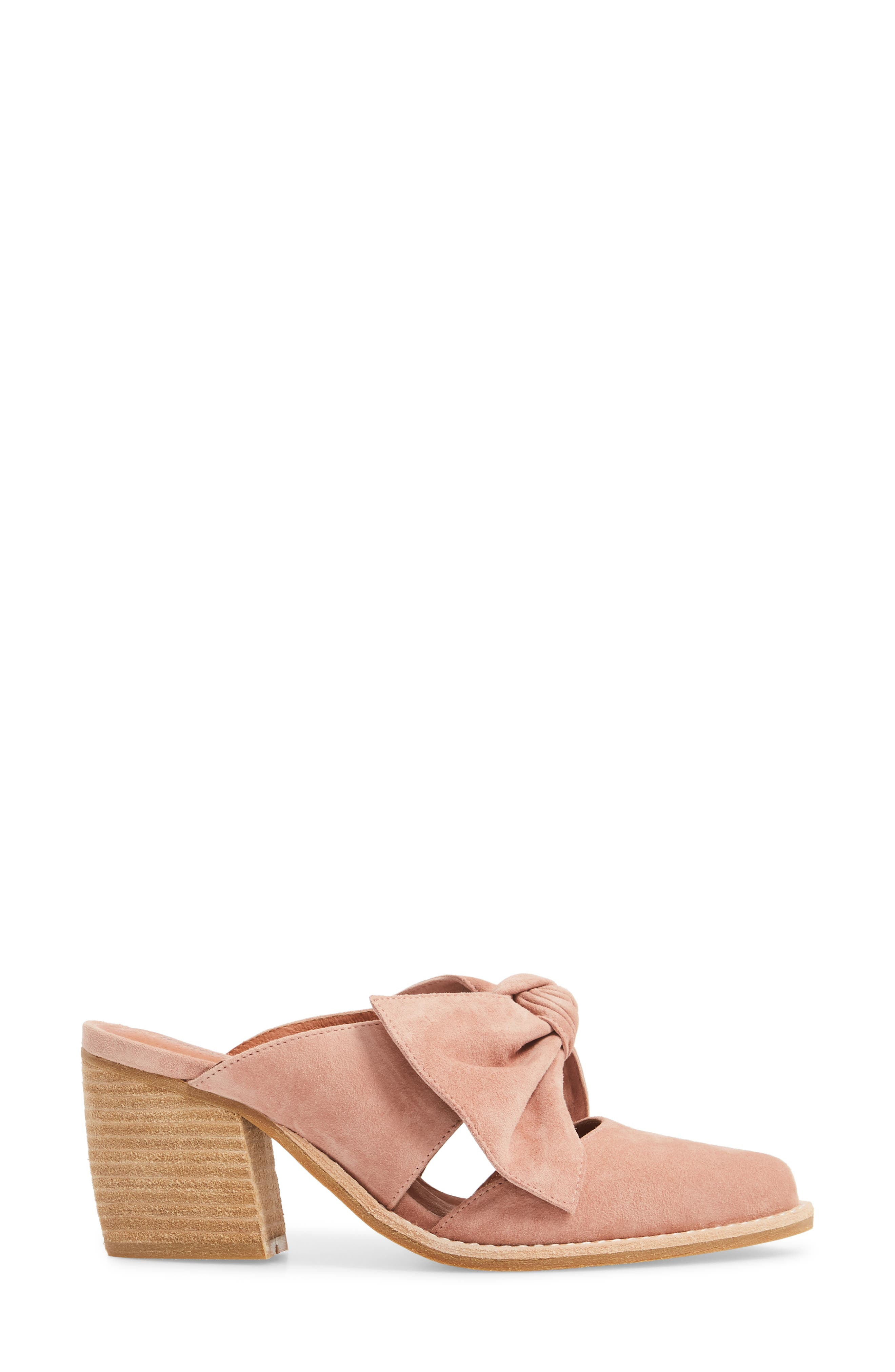 Cyrus Knotted Mary Jane Mule,                             Alternate thumbnail 3, color,                             Blush Suede