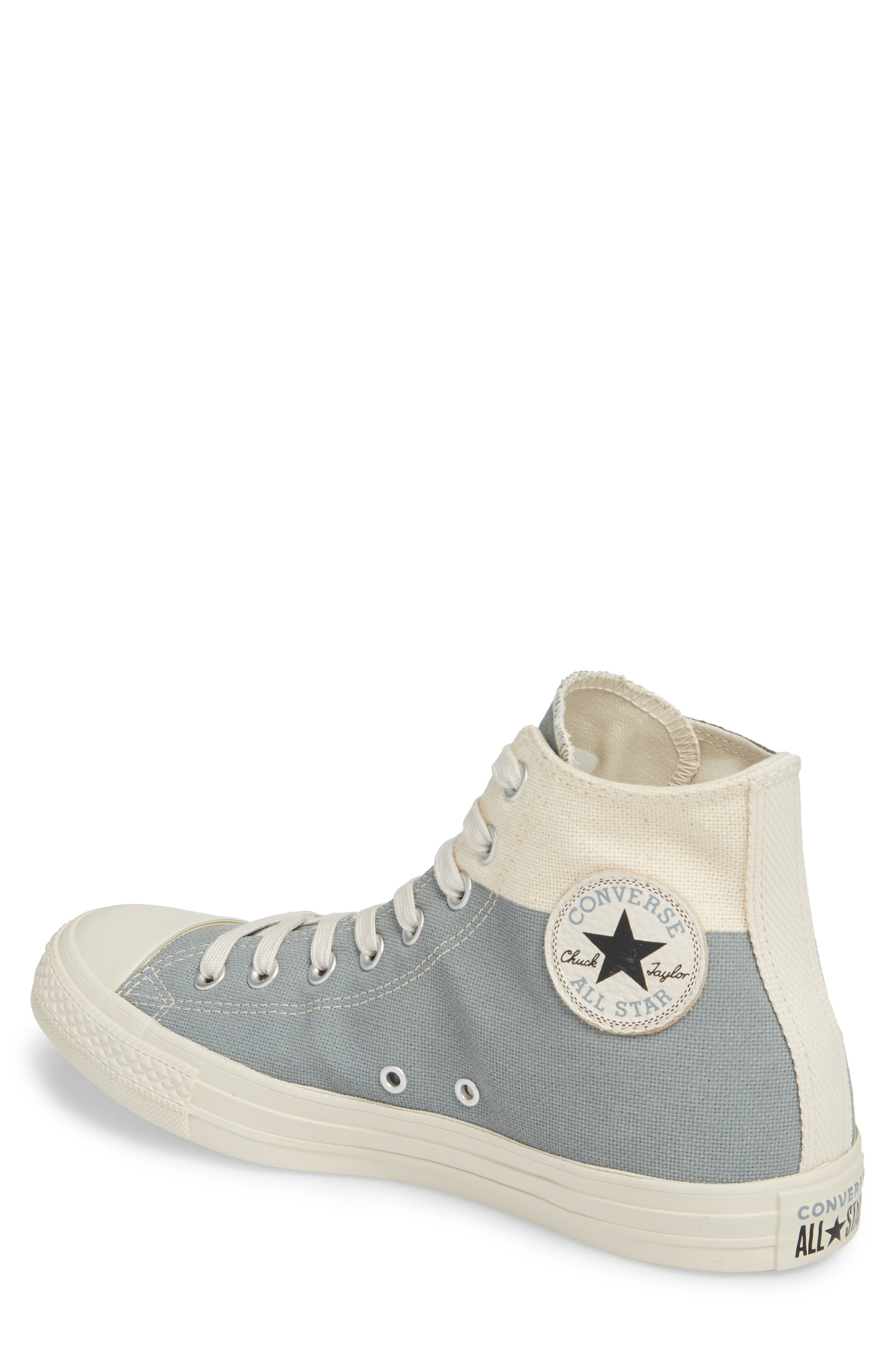 Chuck Taylor<sup>®</sup> All Star<sup>®</sup> Jute Americana High Top Sneaker,                             Alternate thumbnail 2, color,                             Cool Grey