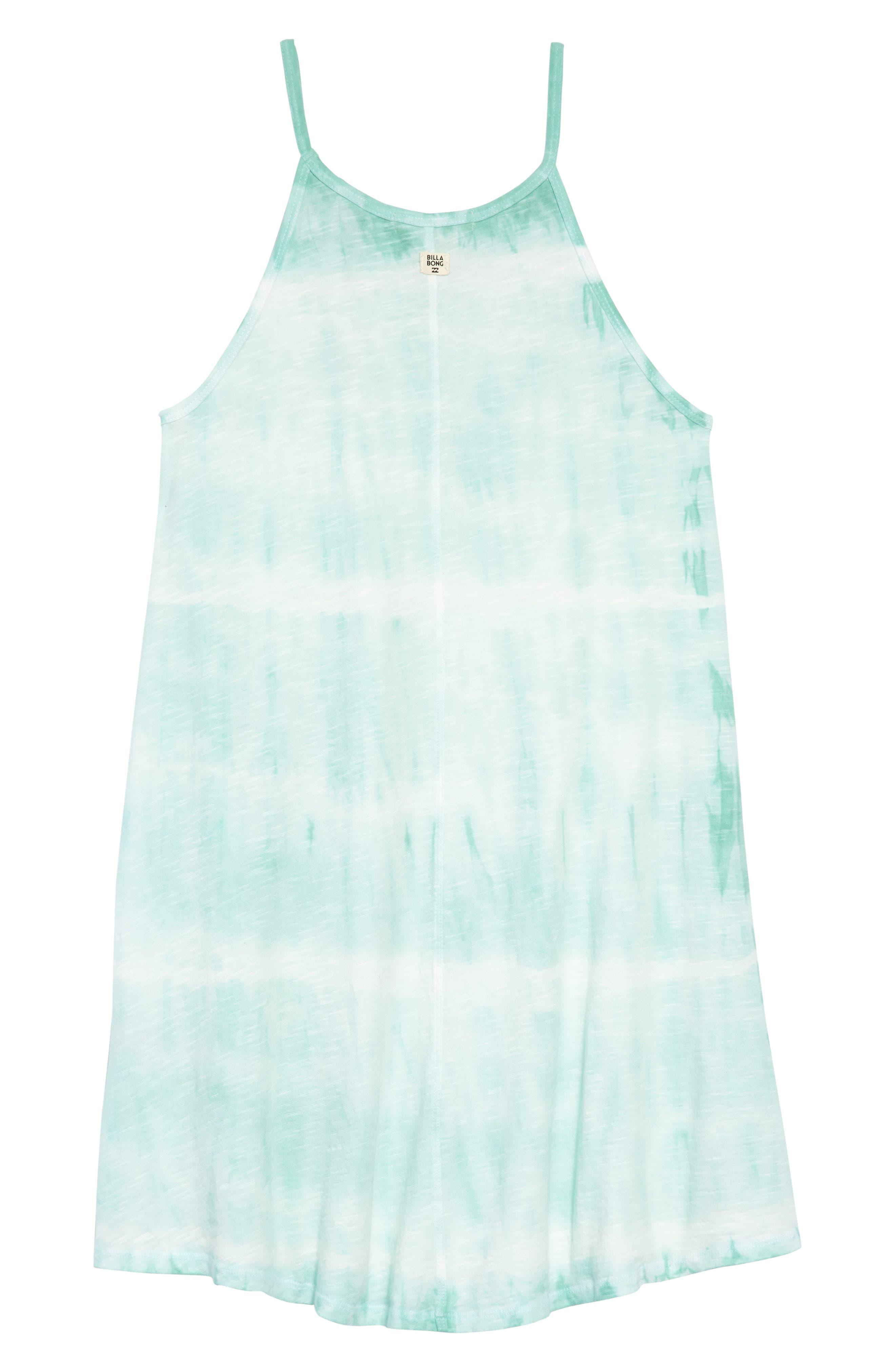 Namaste All Day Tie-Dye Dress,                             Alternate thumbnail 2, color,                             Beach Glass