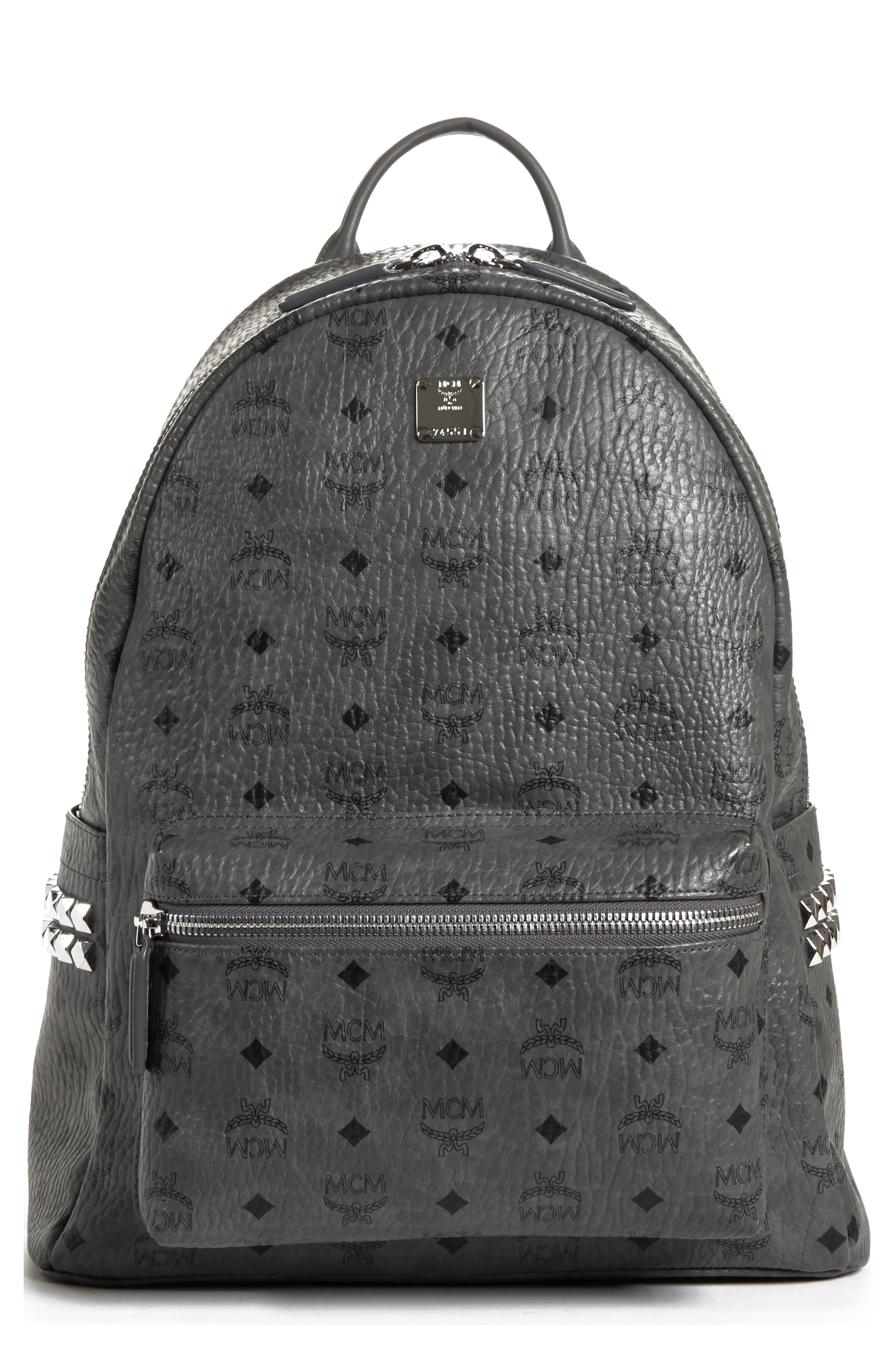 dcb9ed3c1088 MCM - Resnick Backpack In White Logo Nylon for Men - Lyst .