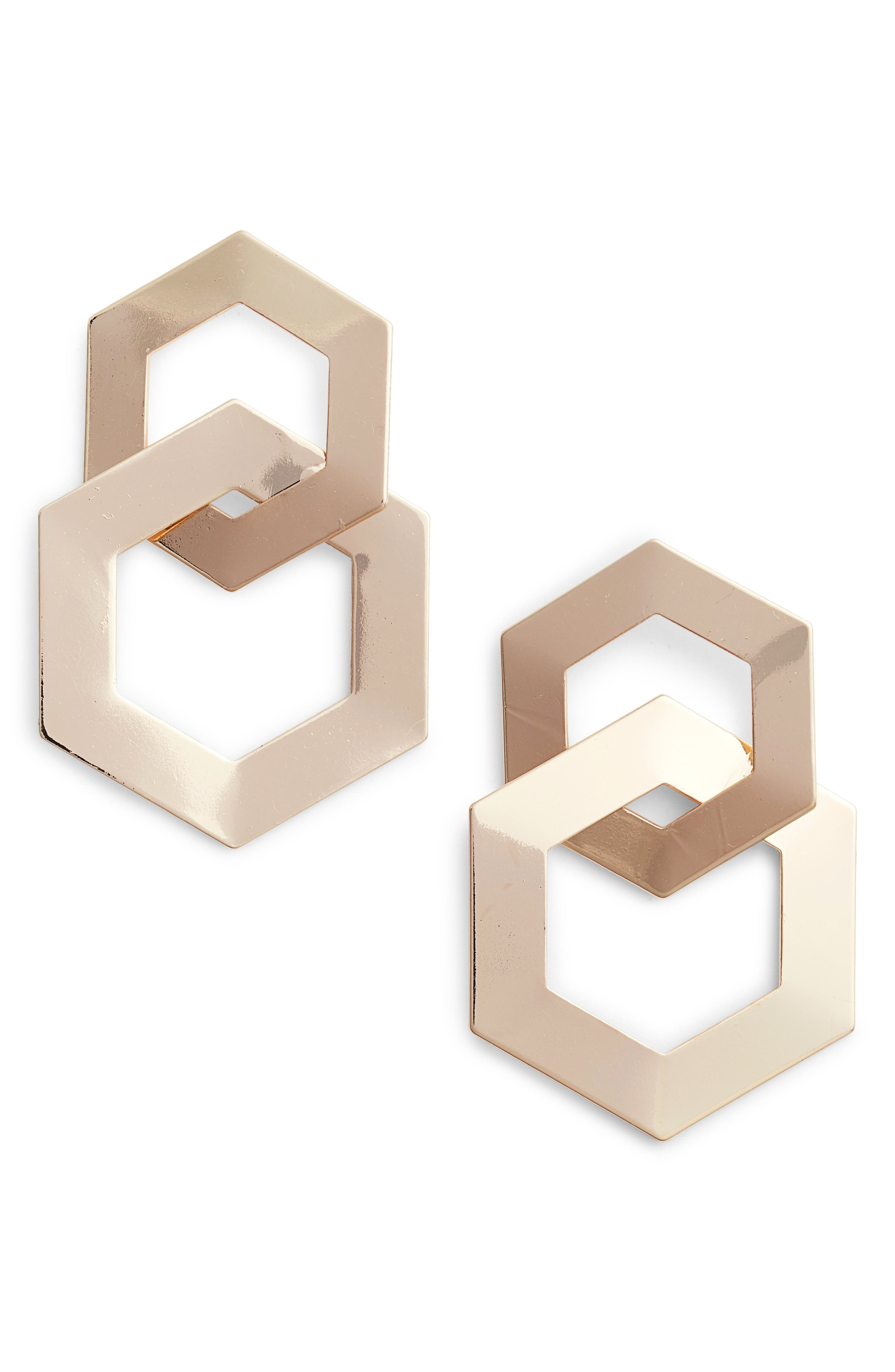 Tasha Interlocking Hexagon Earrings