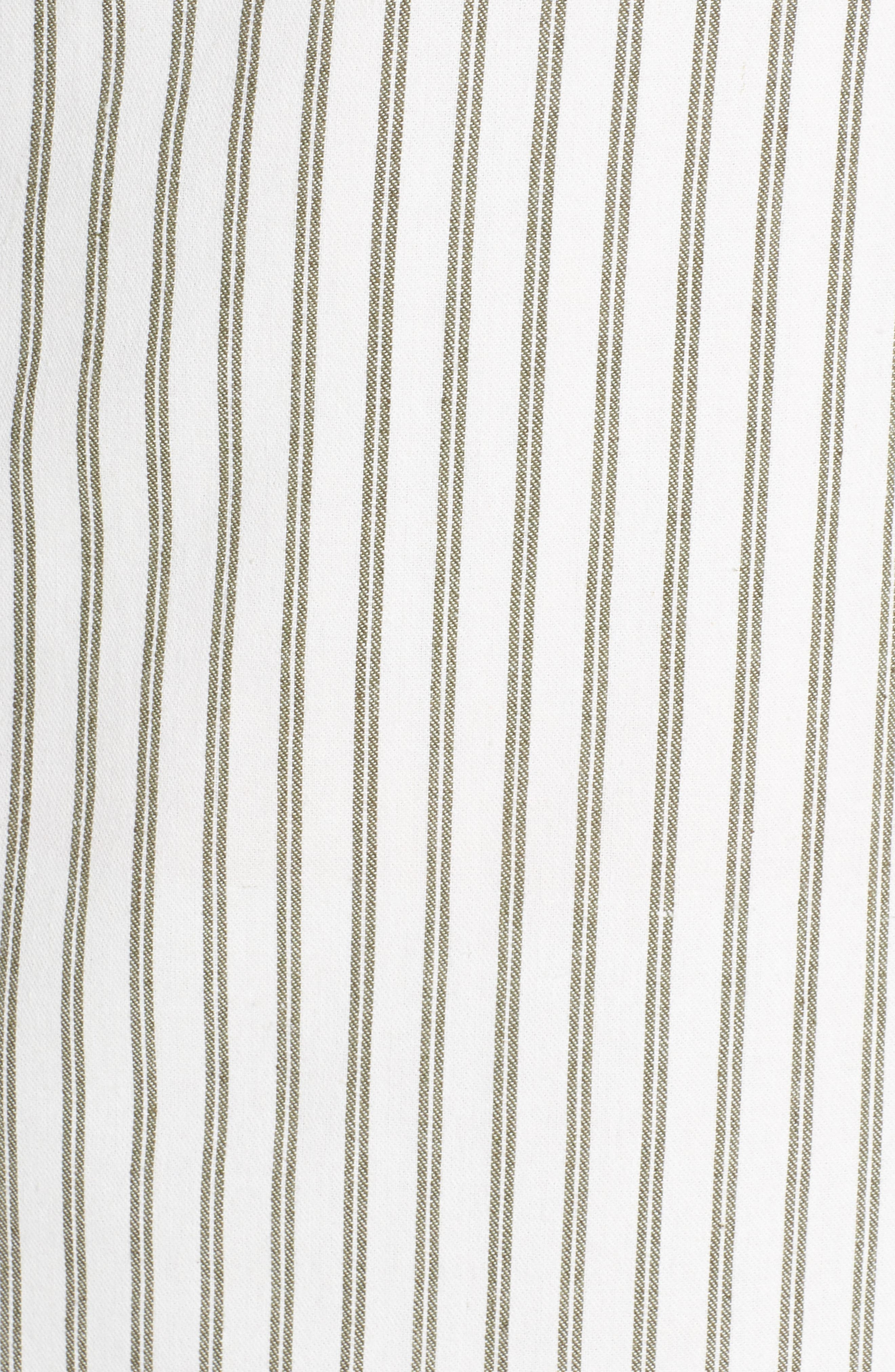 Striped Overall Dress,                             Alternate thumbnail 6, color,                             Sage